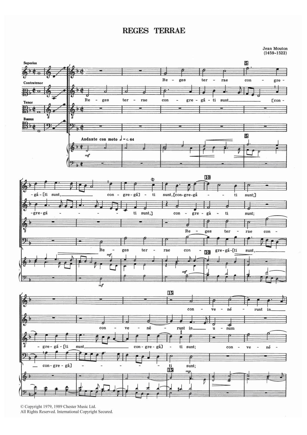 Reges Terrae Sheet Music