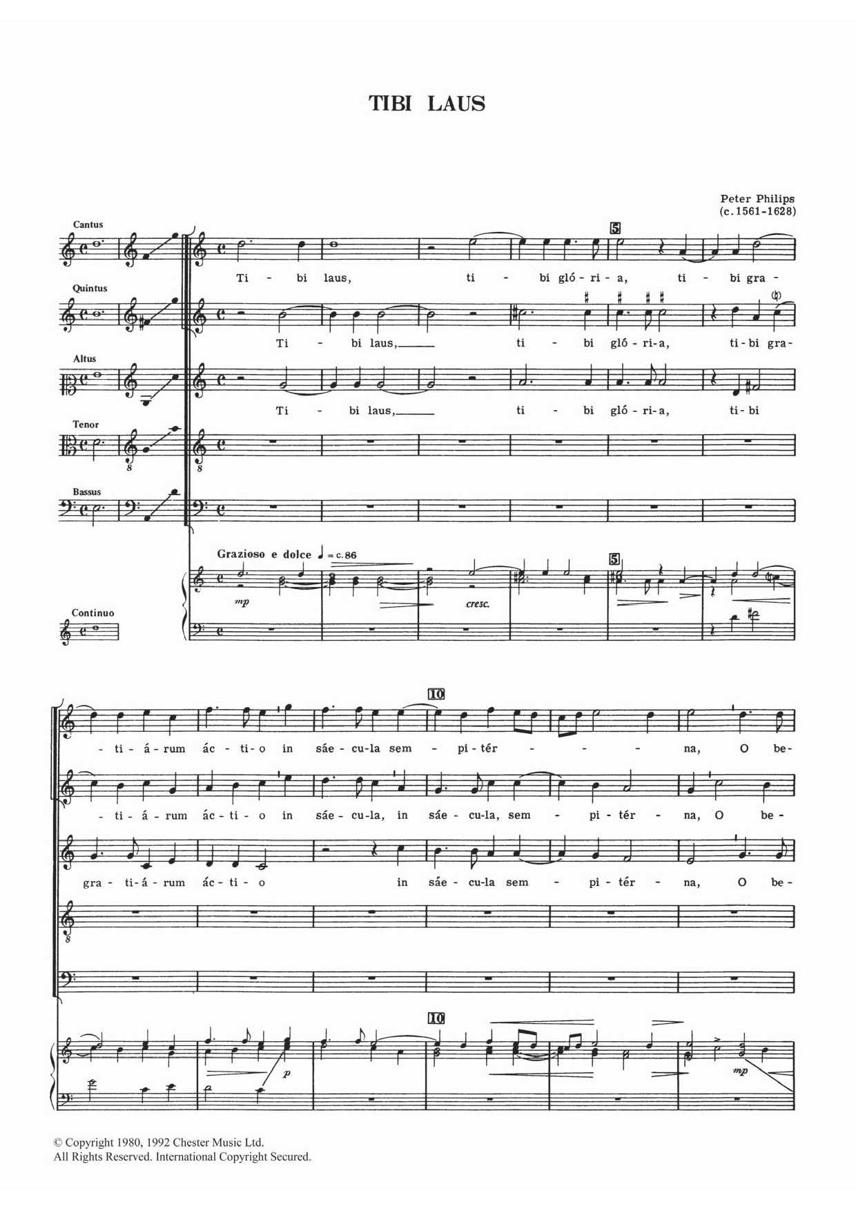 Tibi Laus Sheet Music
