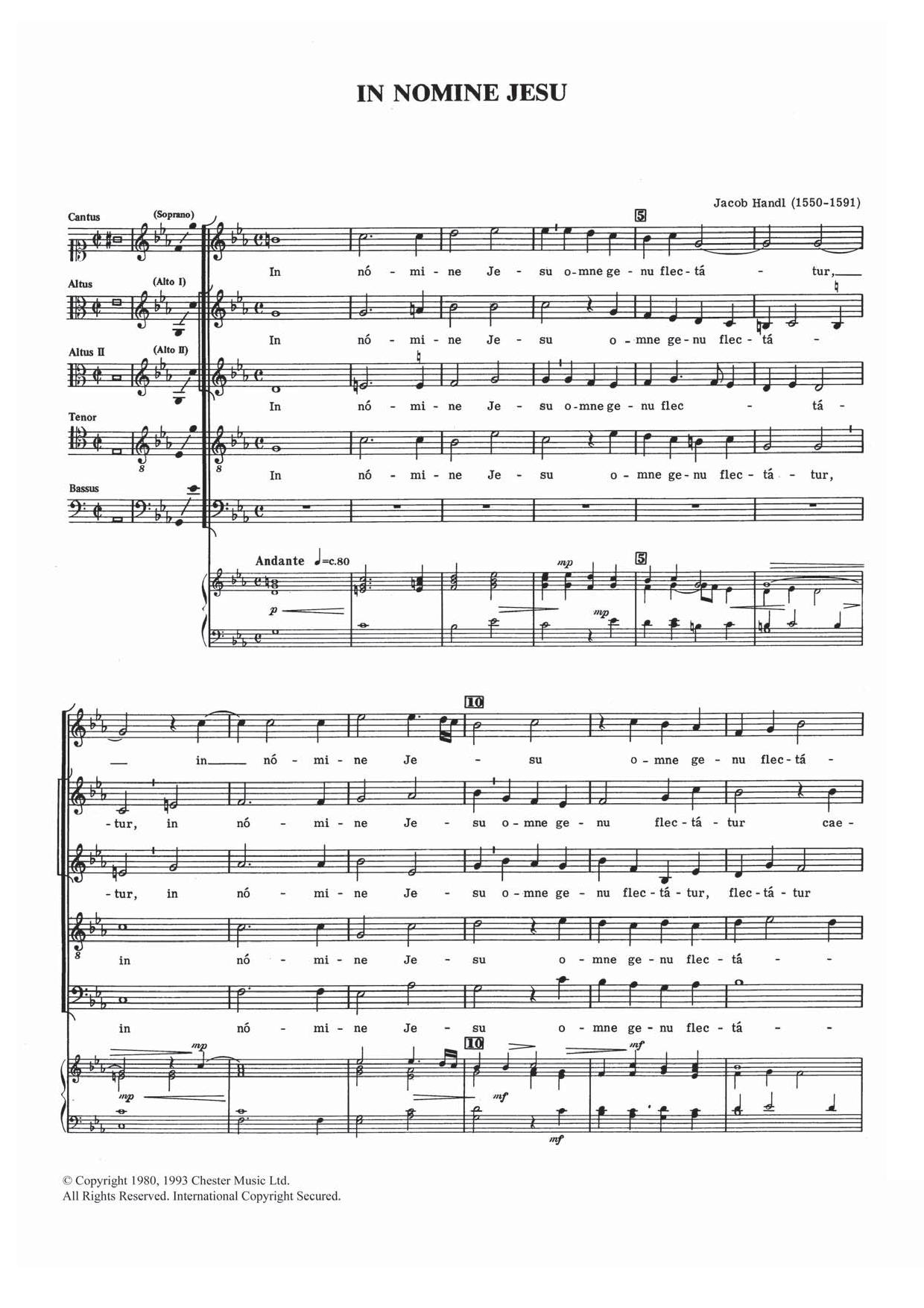 In Nomine Jesu Sheet Music