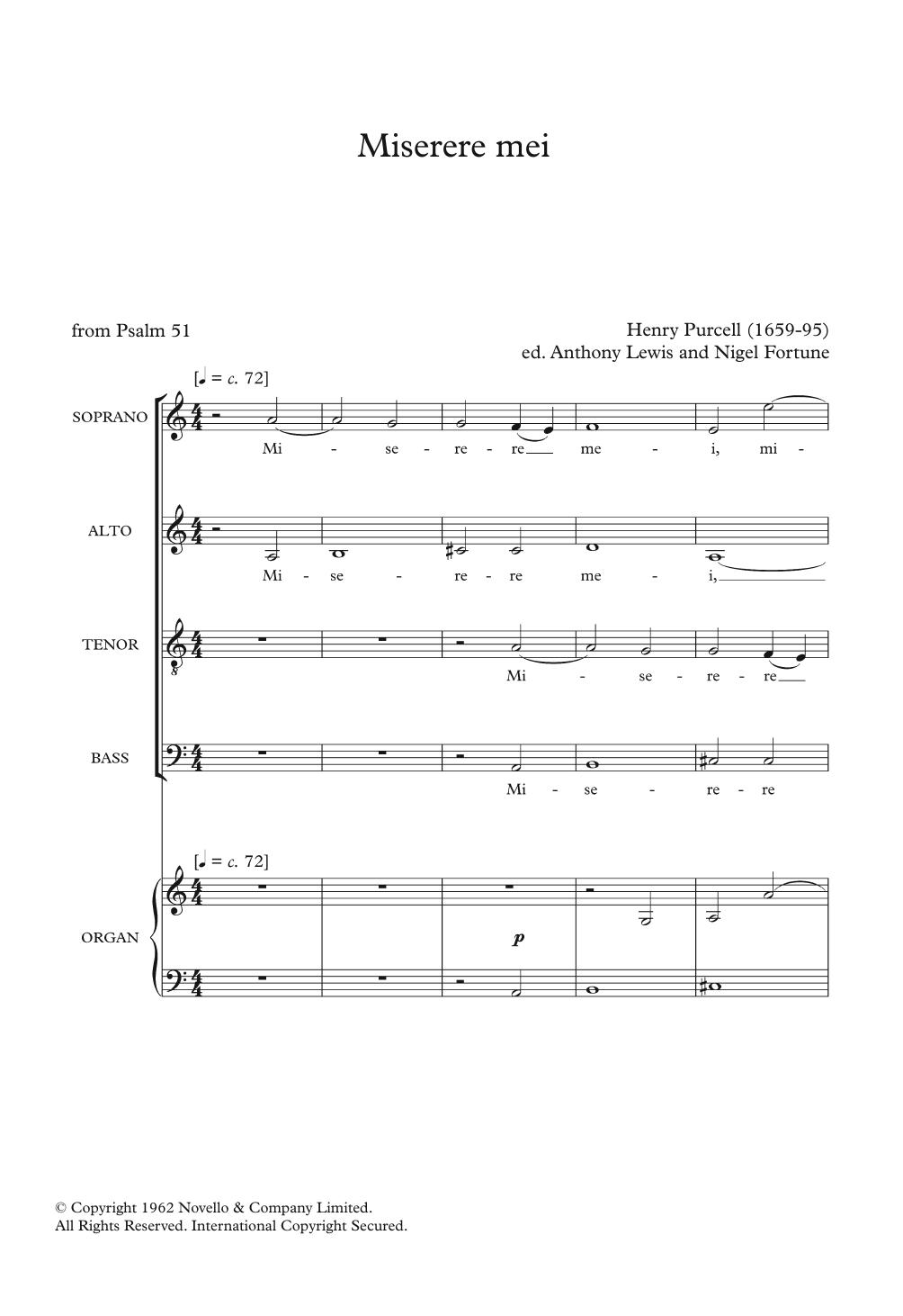 Miserere Mei Sheet Music