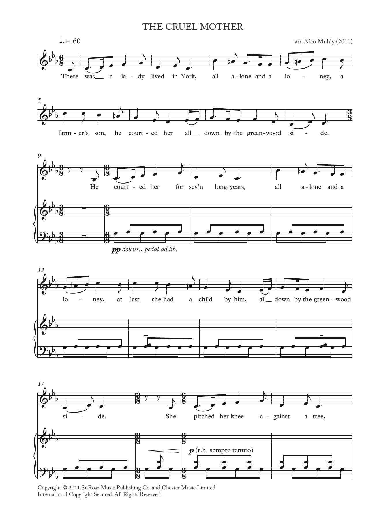 The Cruel Mother (from 'Four Traditional Songs') Sheet Music