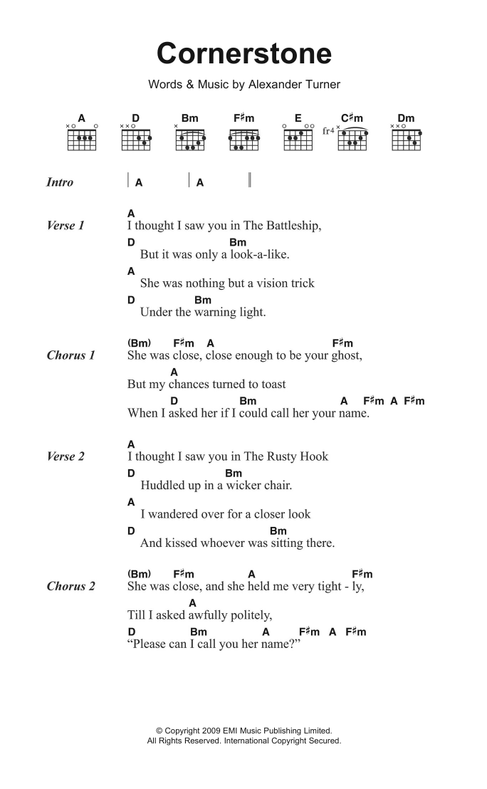 Cornerstone Sheet Music