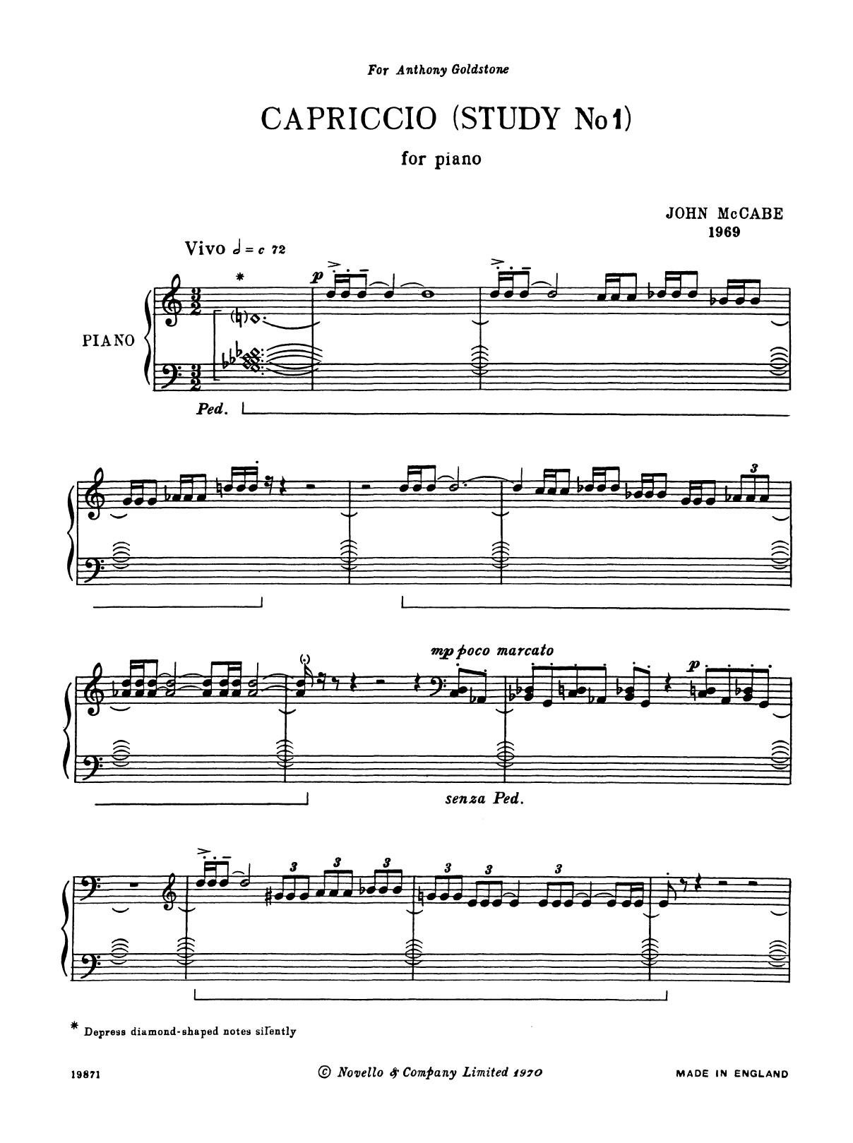 Capriccio (Study No. 1) Sheet Music