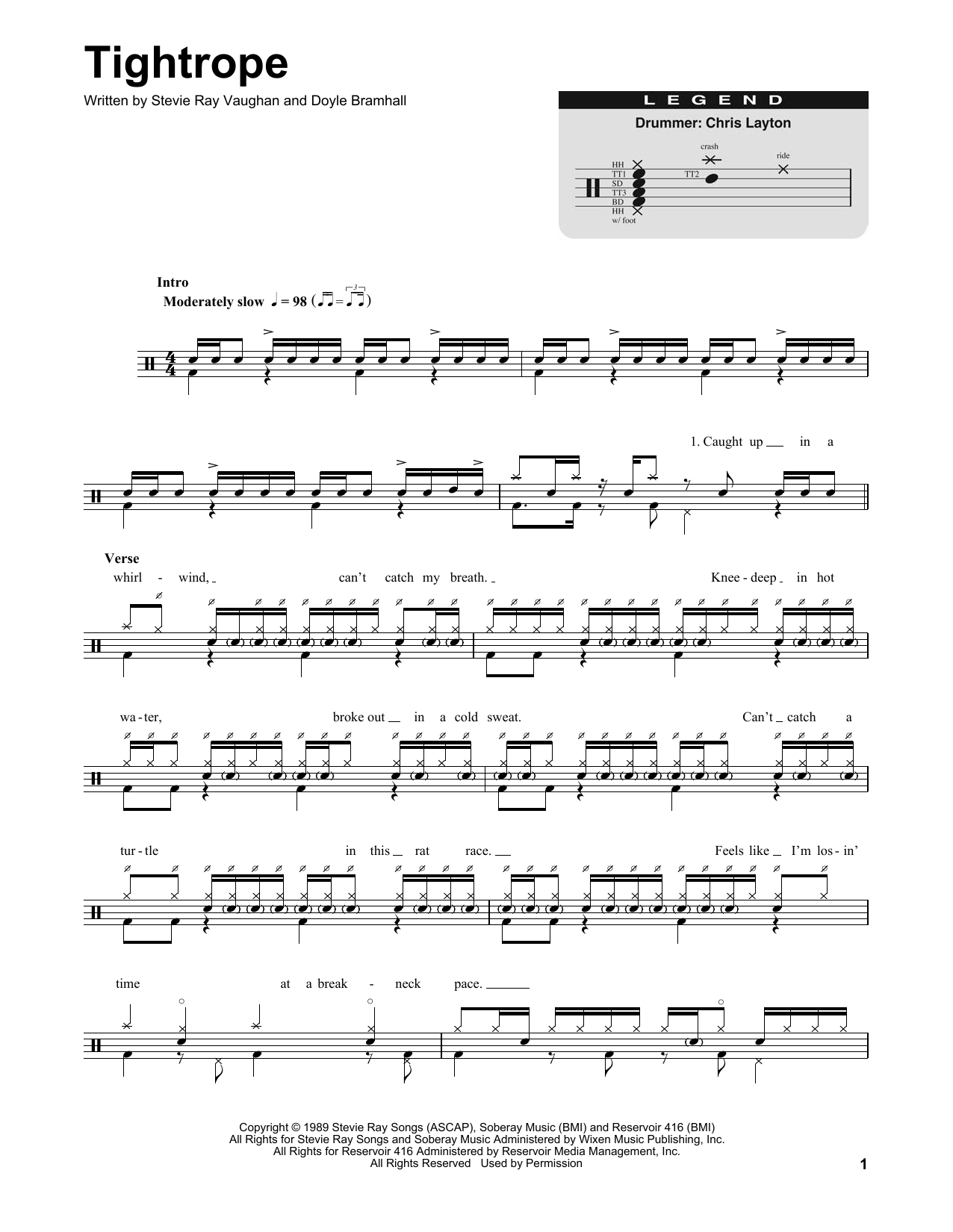 Tightrope Sheet Music