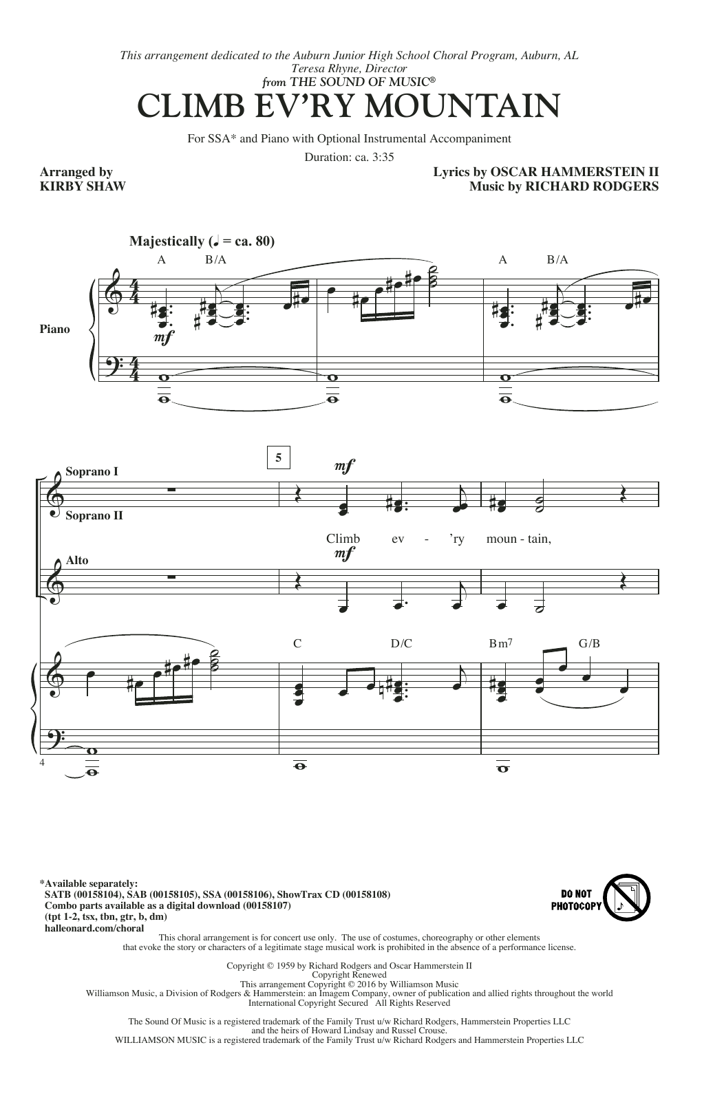 Climb Ev'ry Mountain (arr. Kirby Shaw) Sheet Music