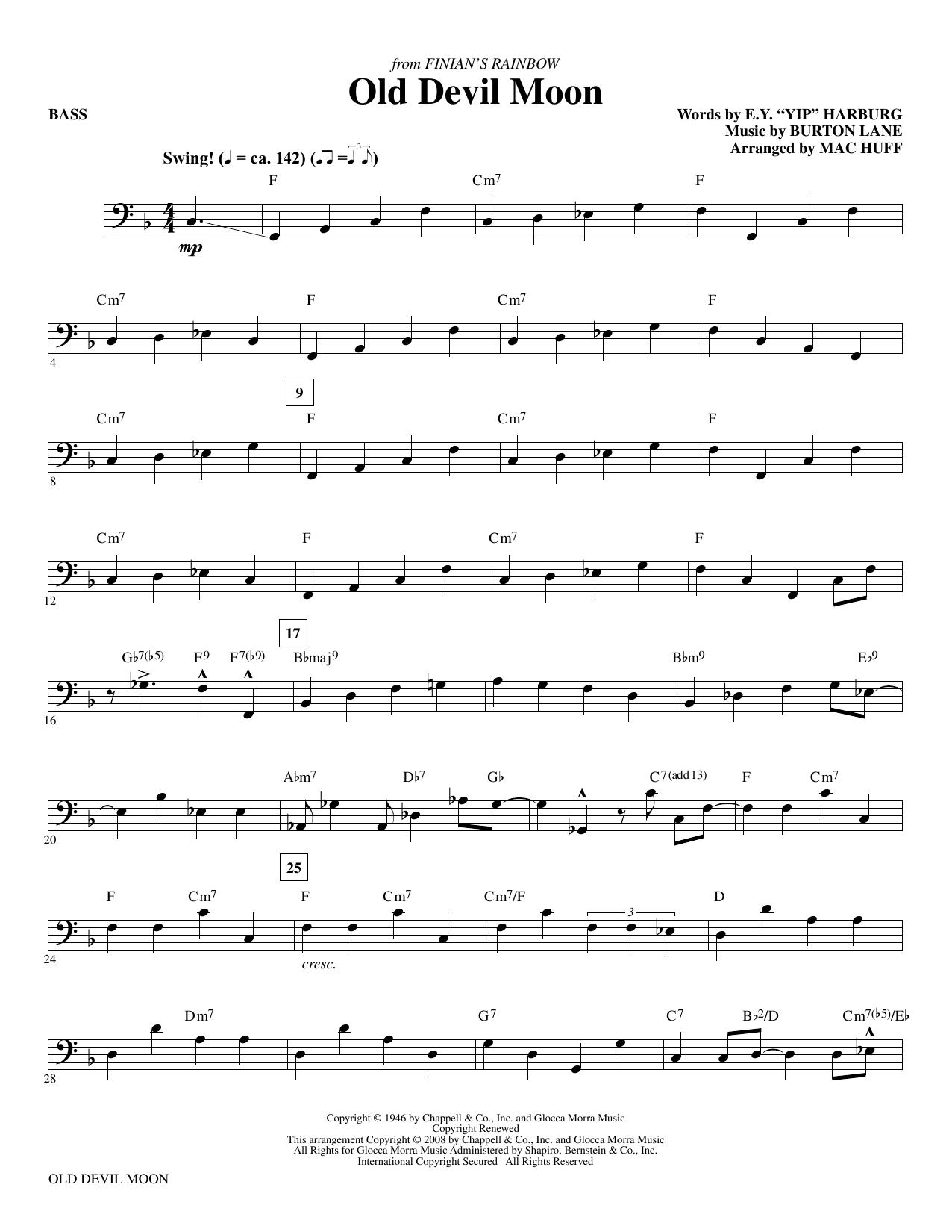 Old Devil Moon - Bass (Choir Instrumental Pak)