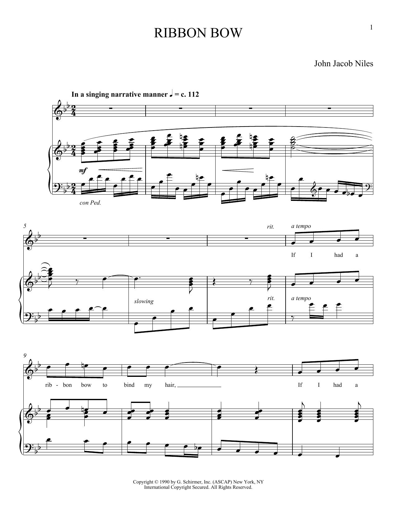 Ribbon Bow (Piano & Vocal)