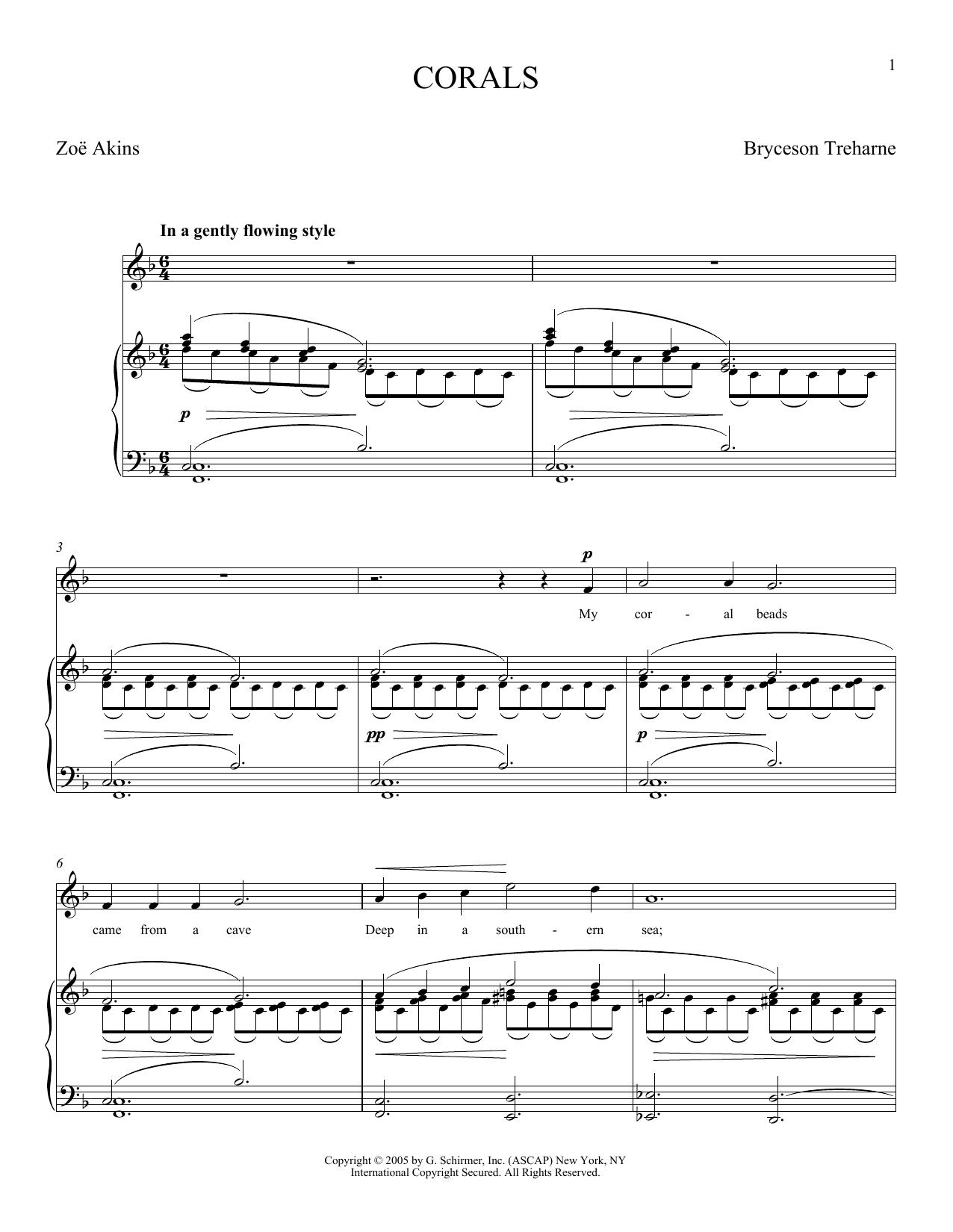 Corals (Piano & Vocal)