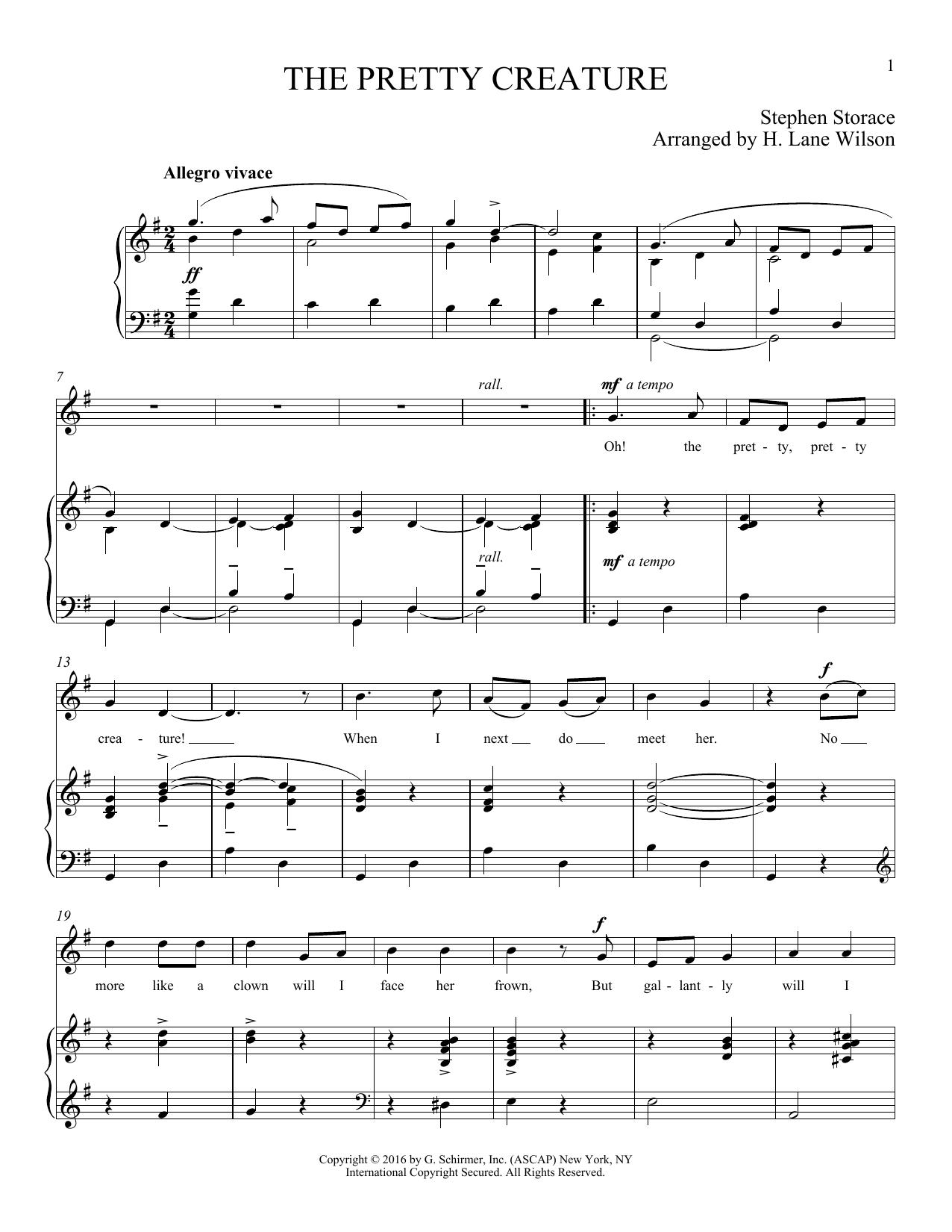 The Pretty Creature (Piano & Vocal)