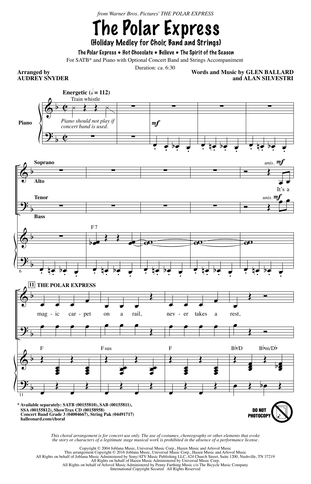 The Polar Express (Holiday Medley) Sheet Music