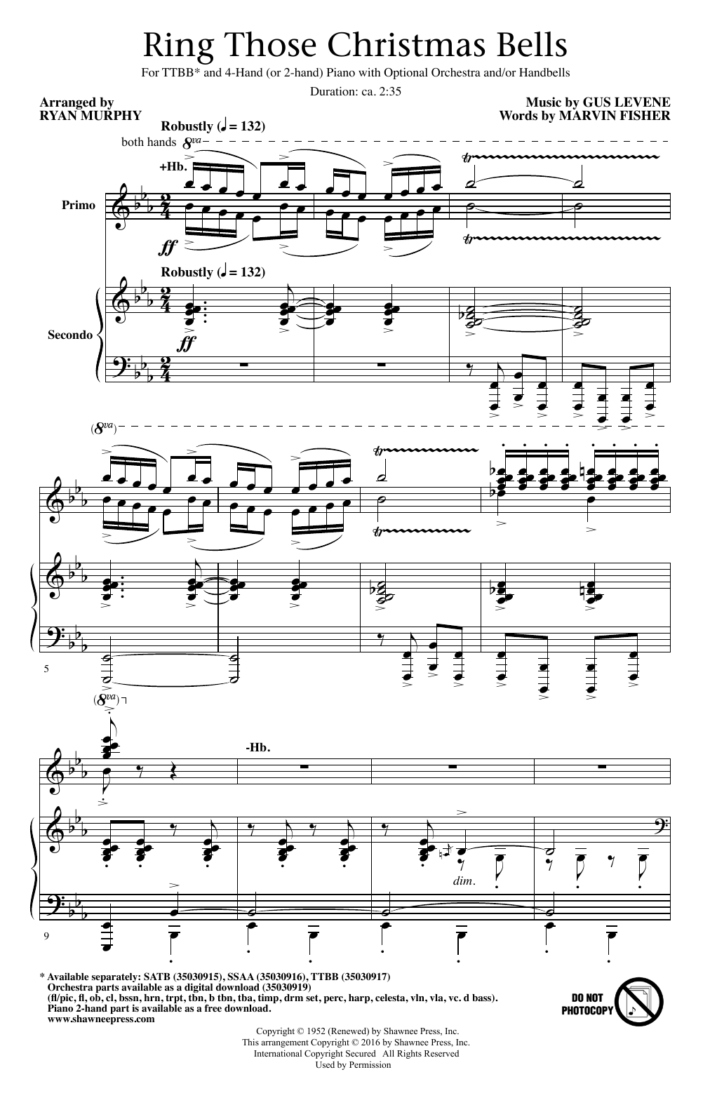 Ring Those Christmas Bells (arr. Ryan Murphy) Sheet Music