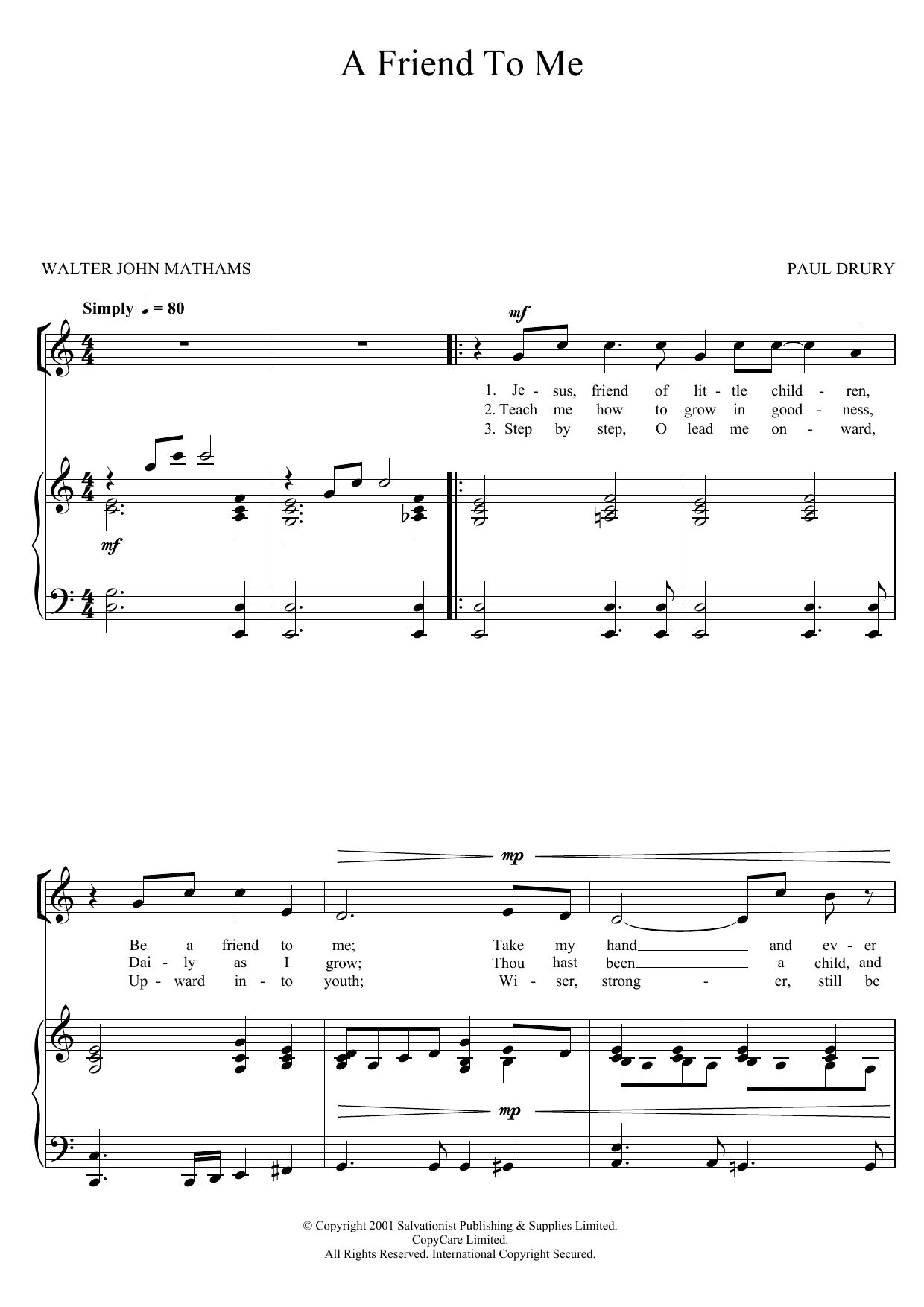 A Friend To Me Sheet Music