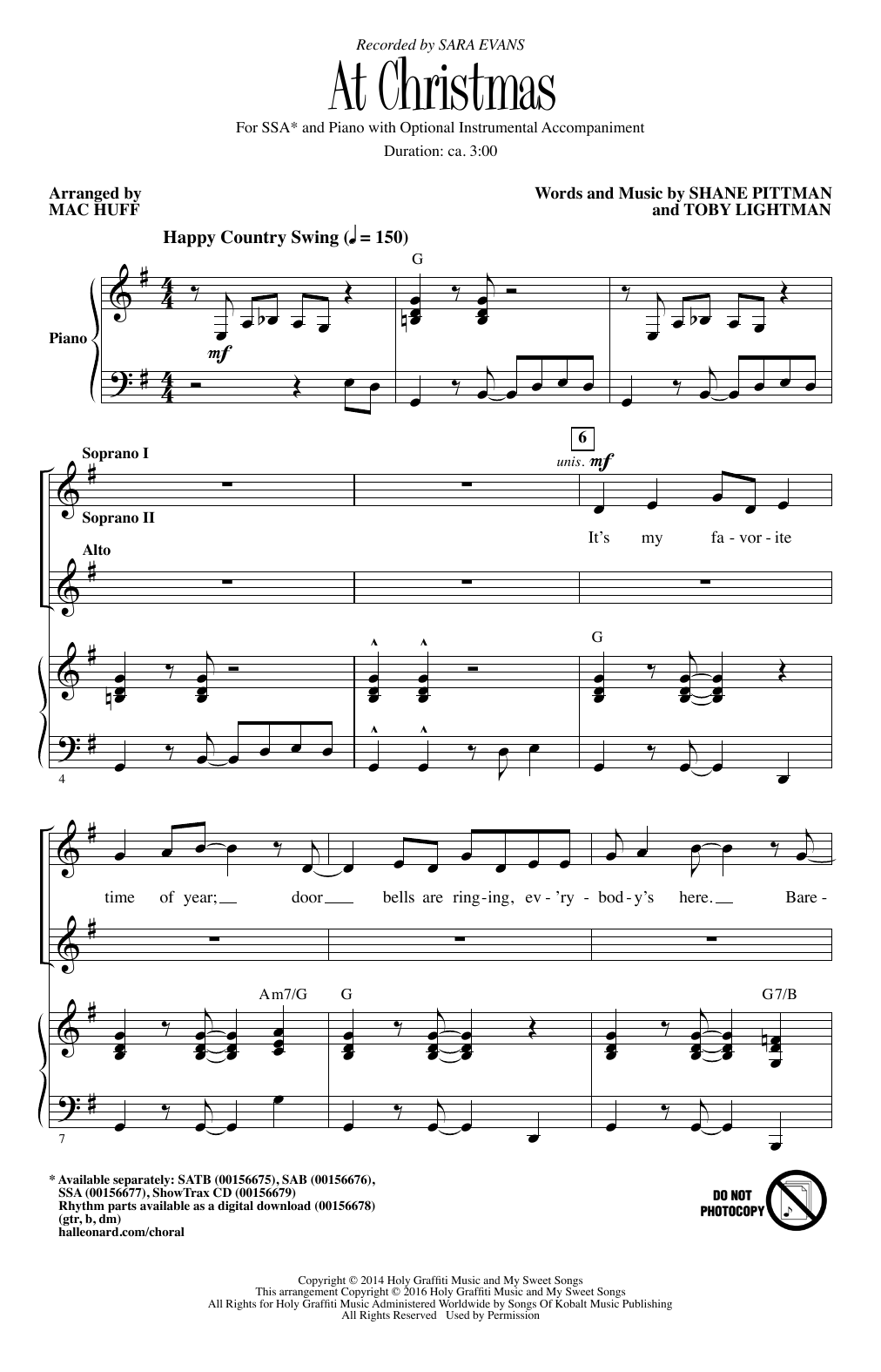 At Christmas Sheet Music