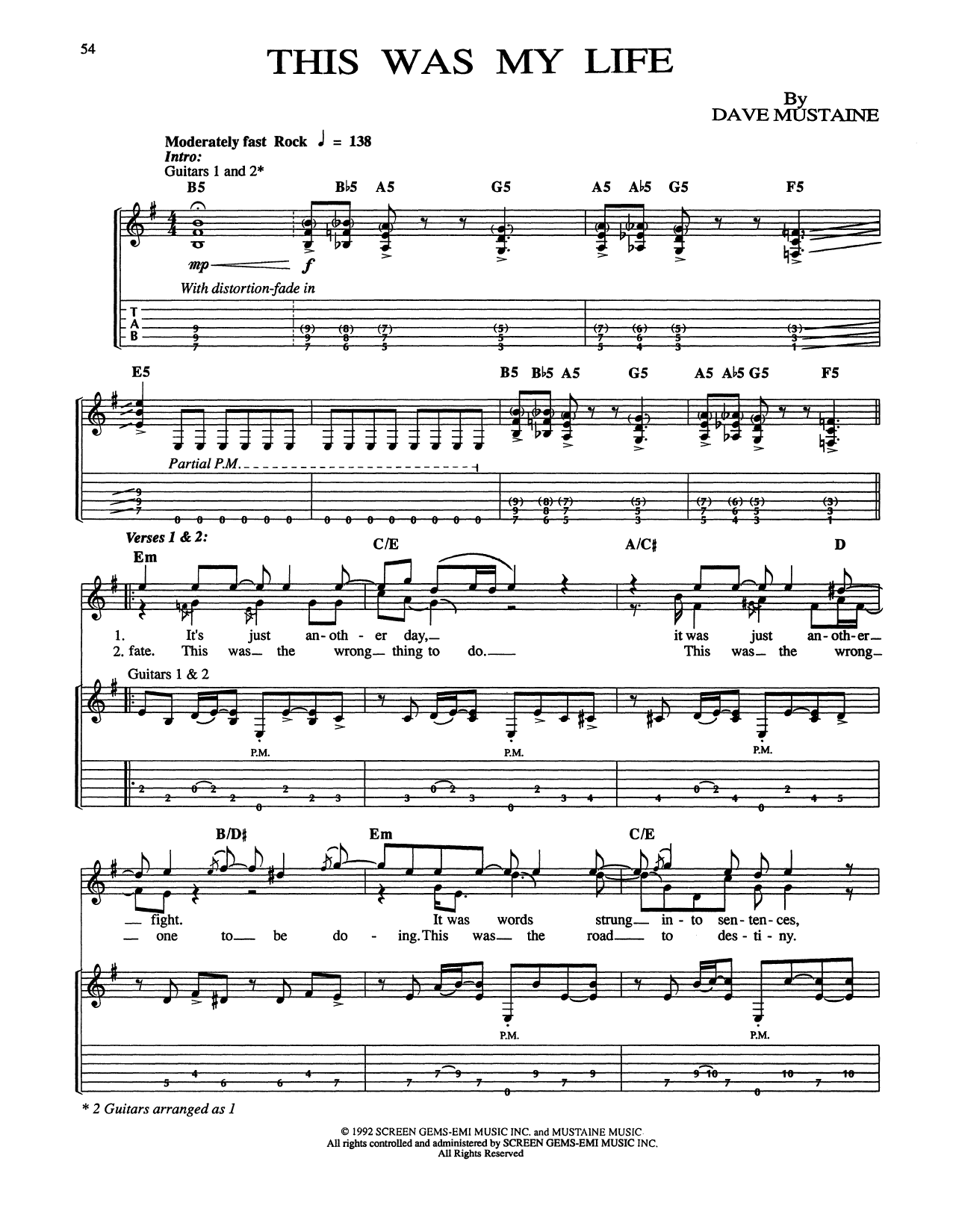 This Was My Life Sheet Music