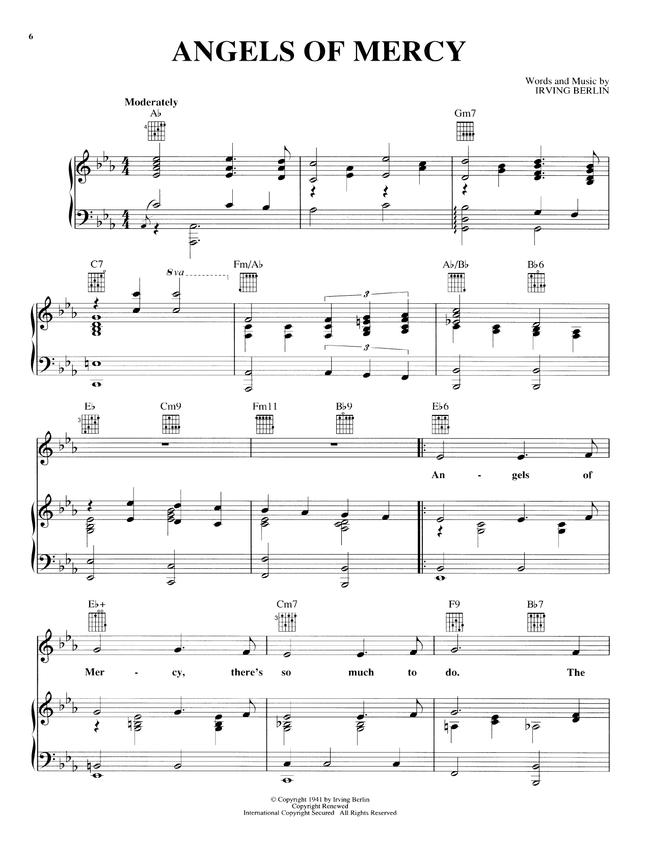 Angels Of Mercy Sheet Music