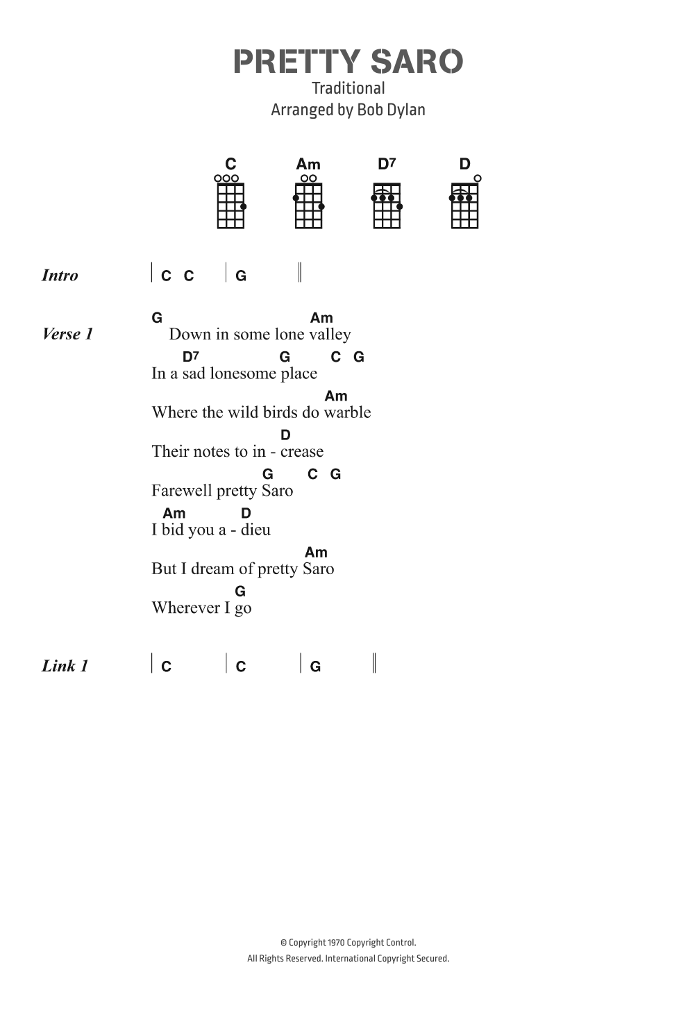 Pretty Saro Sheet Music