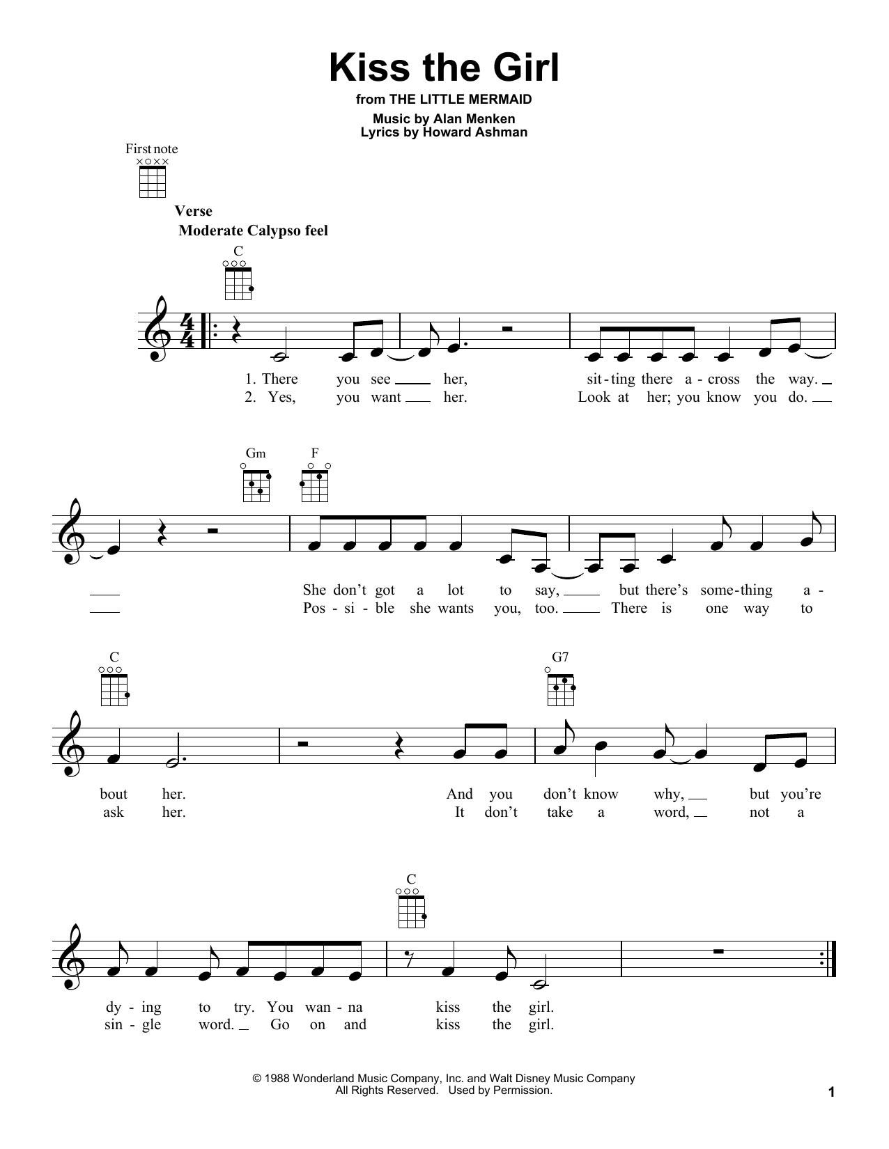 Kiss The Girl Sheet Music