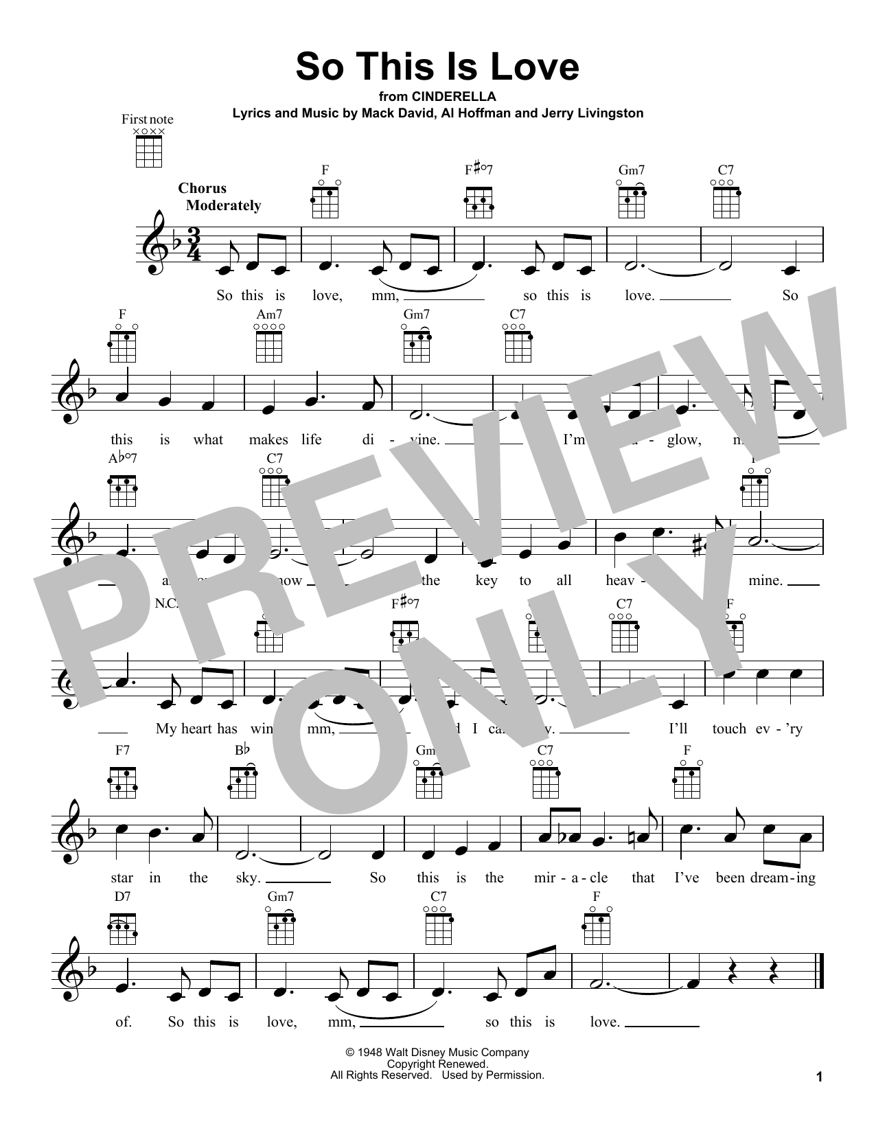 So This Is Love Sheet Music