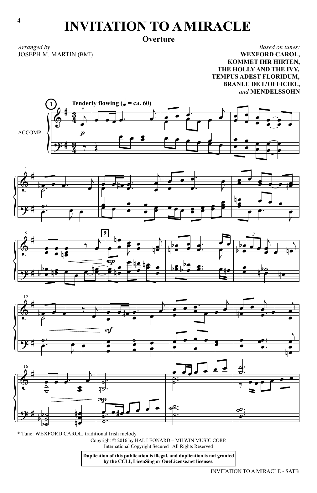 Invitation To A Miracle Sheet Music