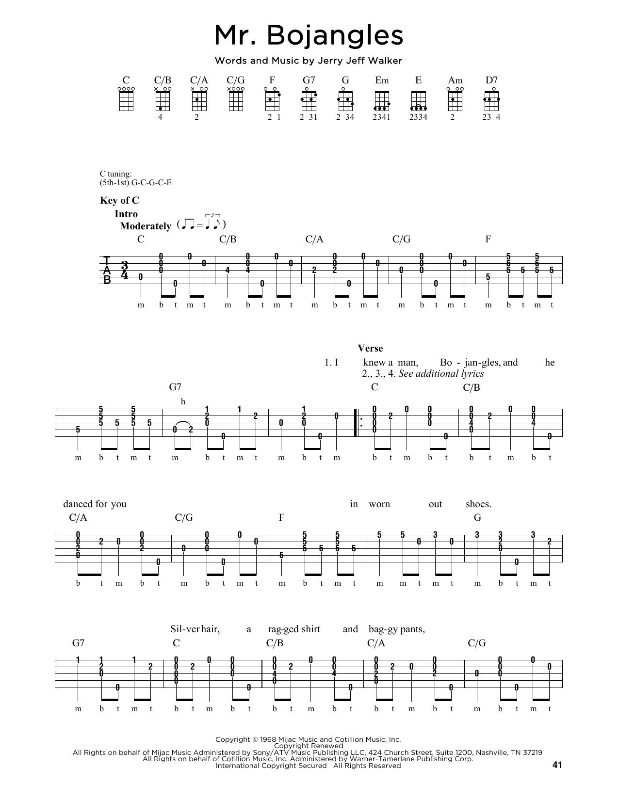 Mr. Bojangles Sheet Music