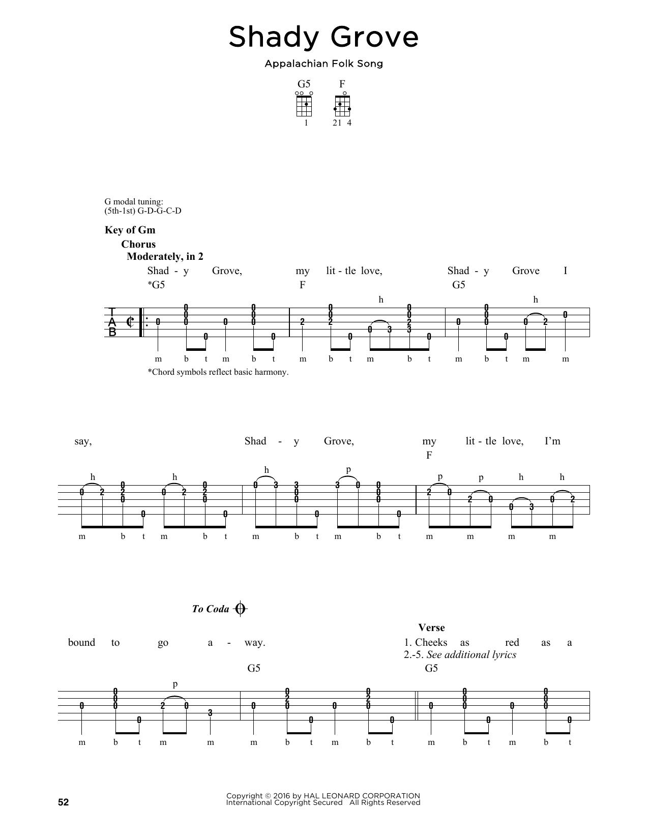 Shady Grove Sheet Music