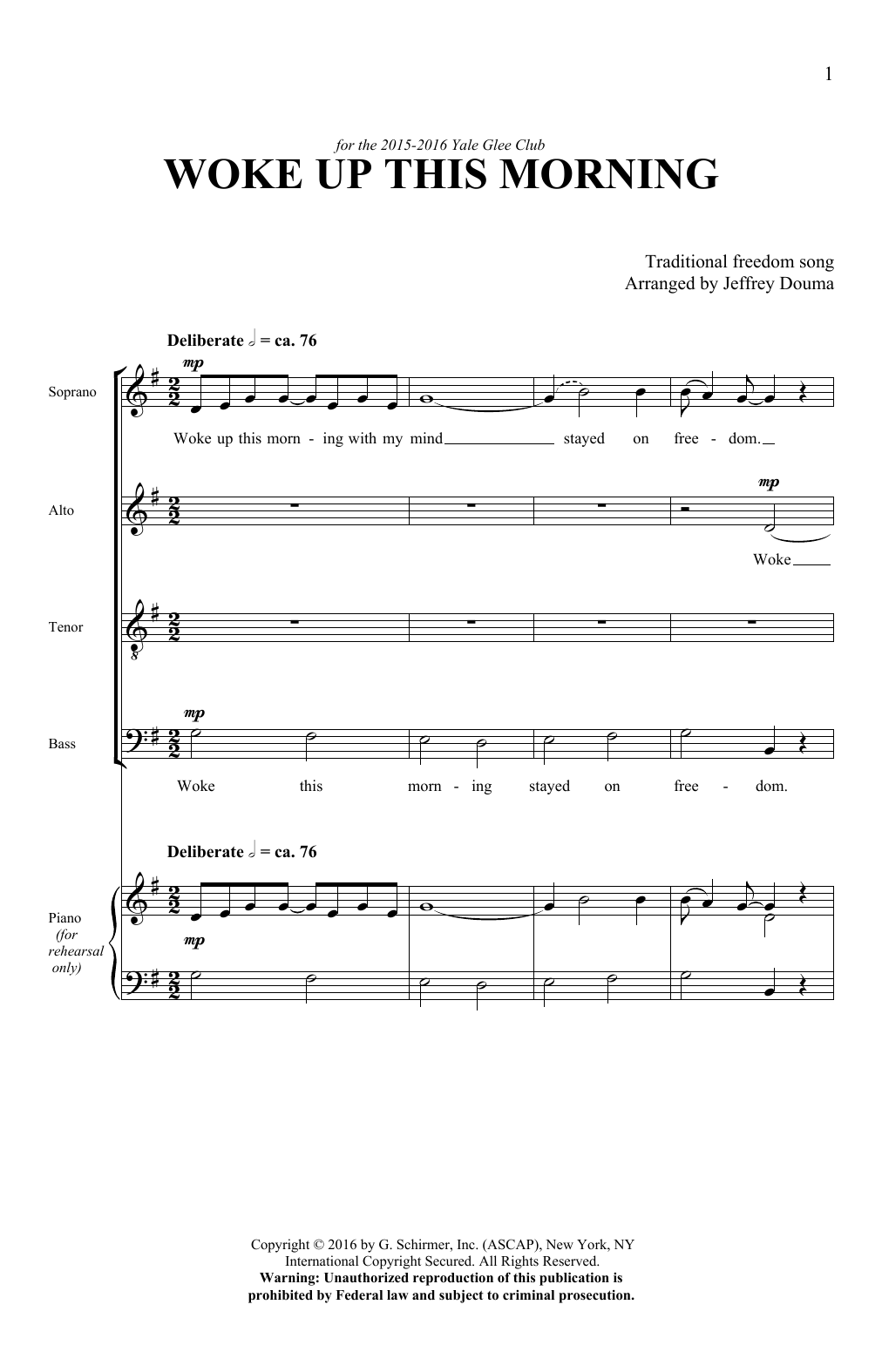 Woke Up This Morning (SATB Choir)