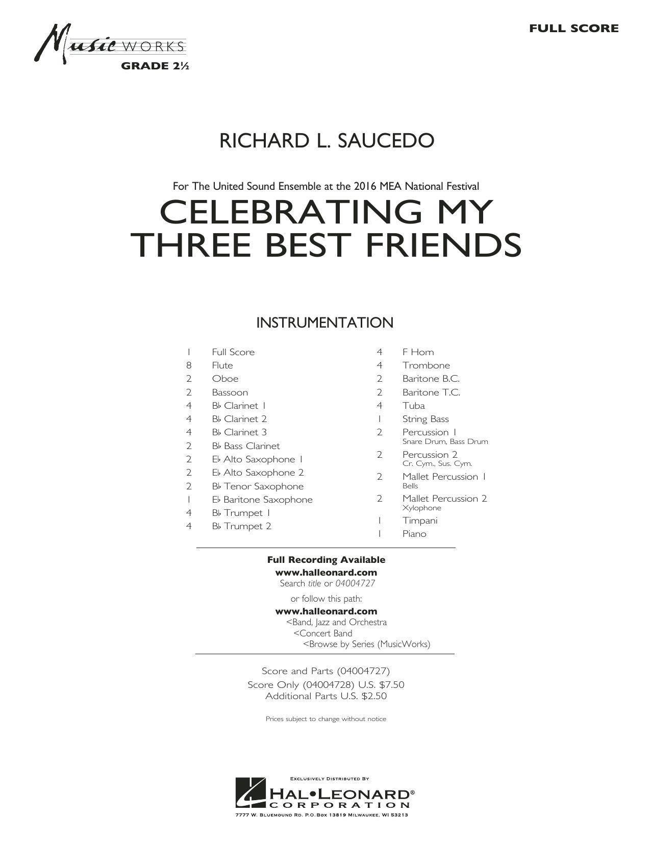 Celebrating My Three Best Friends - Full Score (Concert Band)