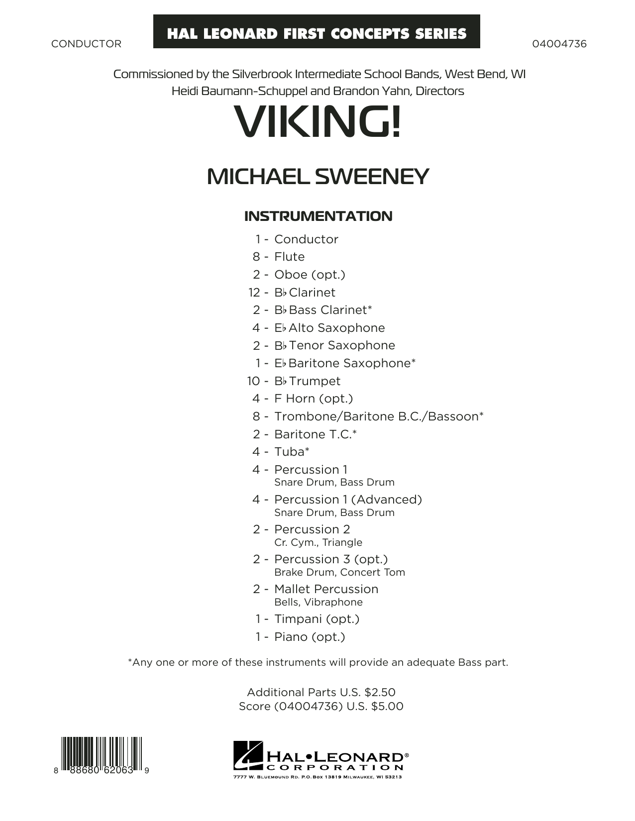 Viking! (COMPLETE) sheet music for concert band by Michael Sweeney. Score Image Preview.