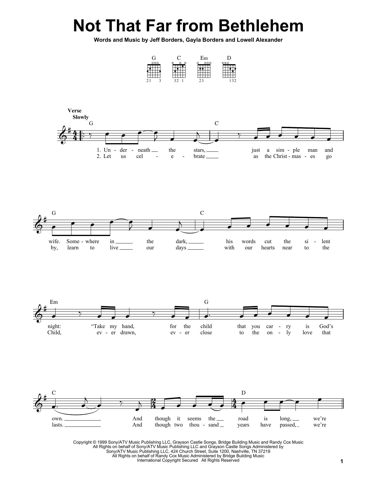 Not That Far From Bethlehem (Easy Guitar)