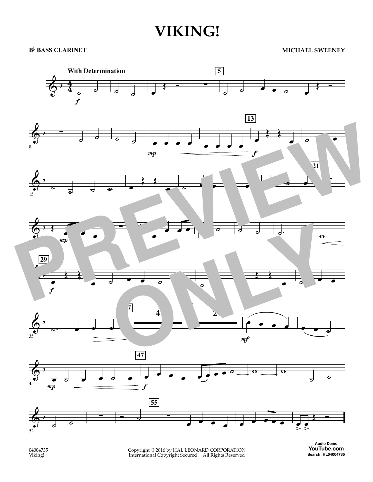 Viking! - Bb Bass Clarinet (Concert Band)