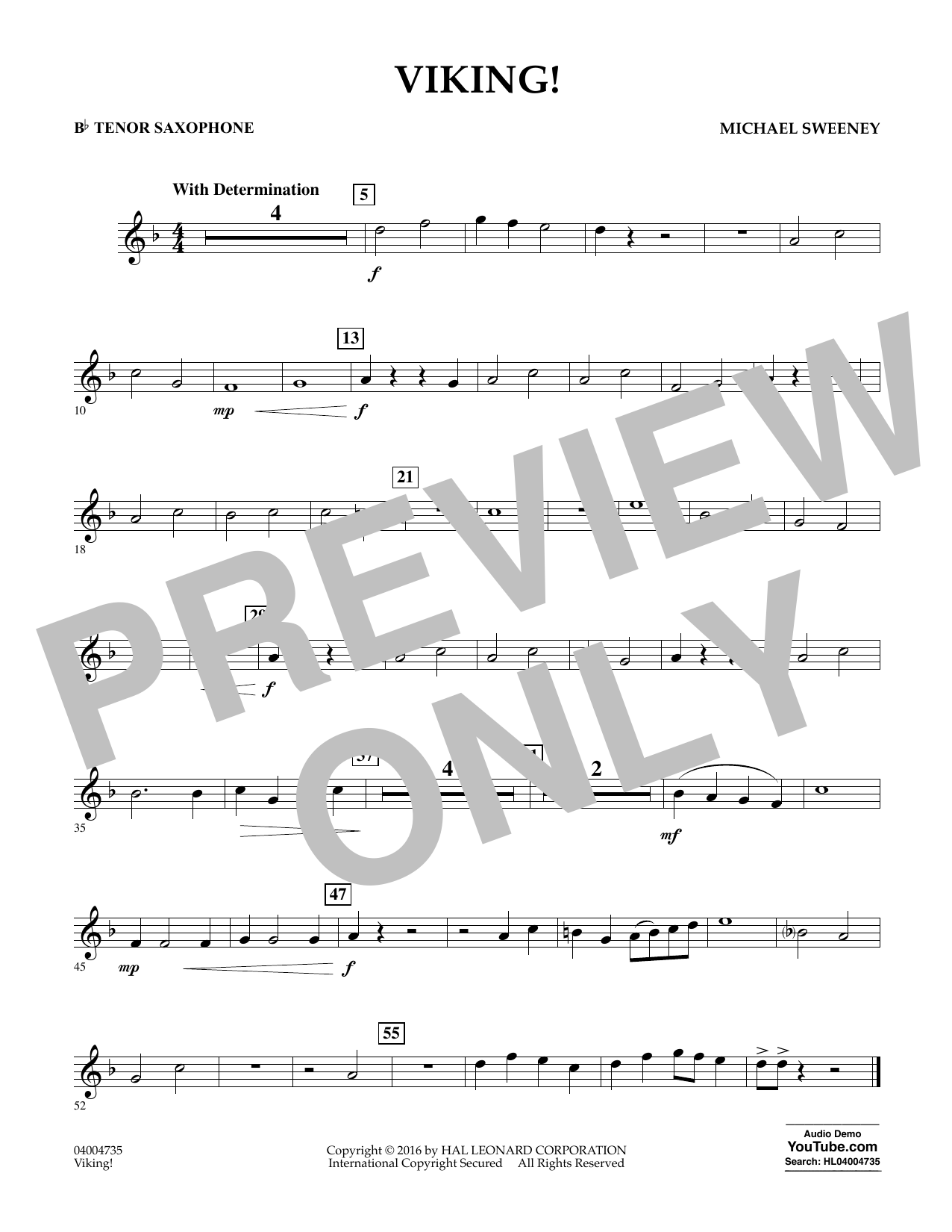 Viking! - Bb Tenor Saxophone (Concert Band)