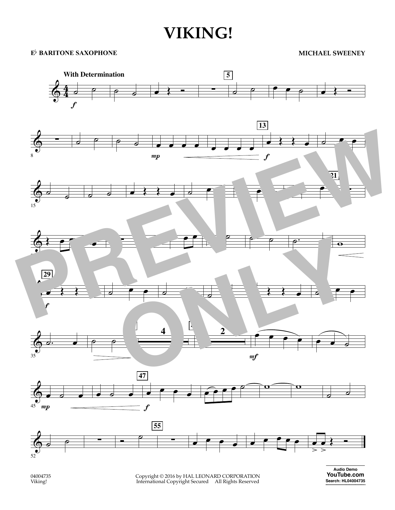 Viking! - Eb Baritone Saxophone (Concert Band)
