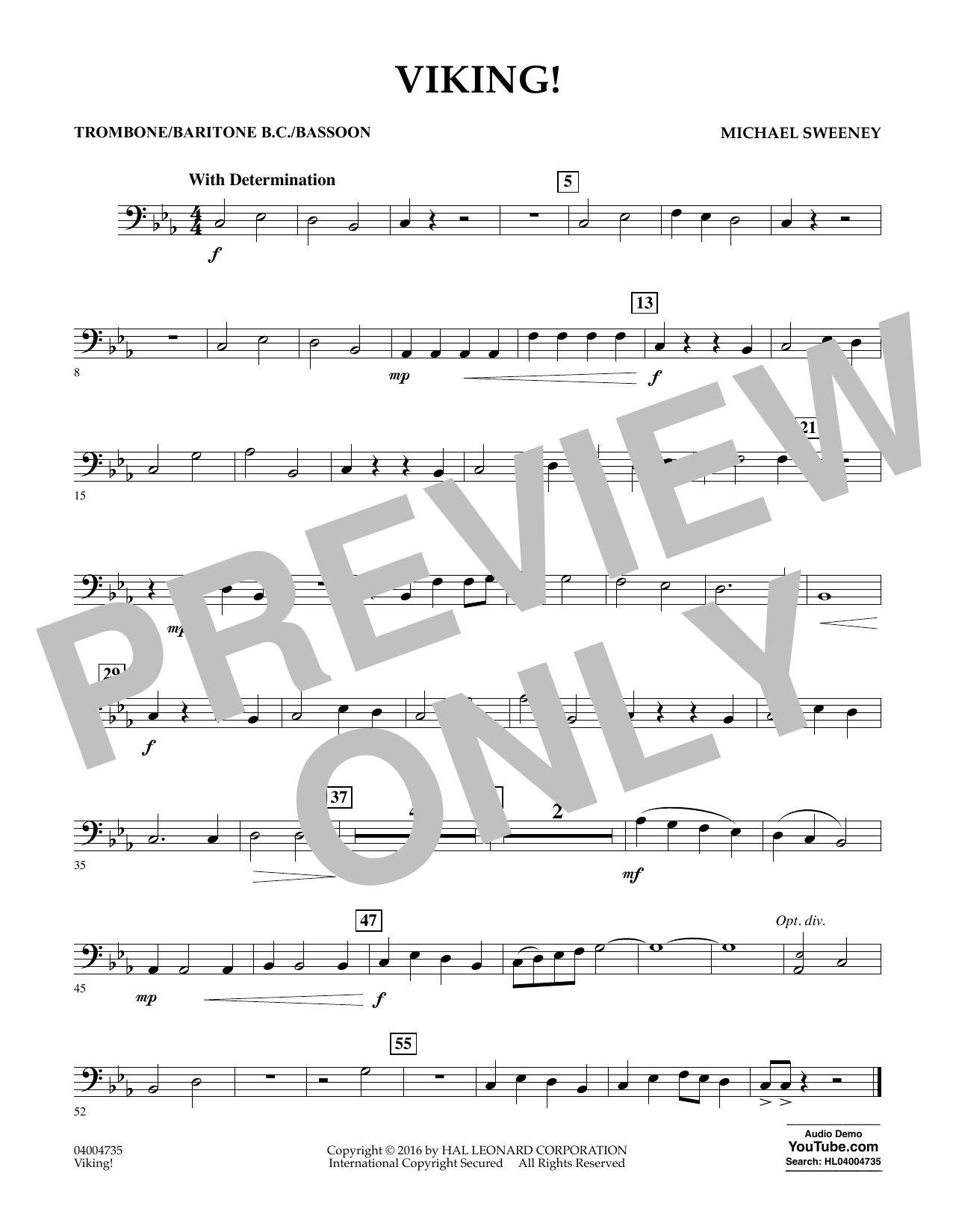Viking! - Trombone/Baritone B.C./Bassoon (Concert Band)
