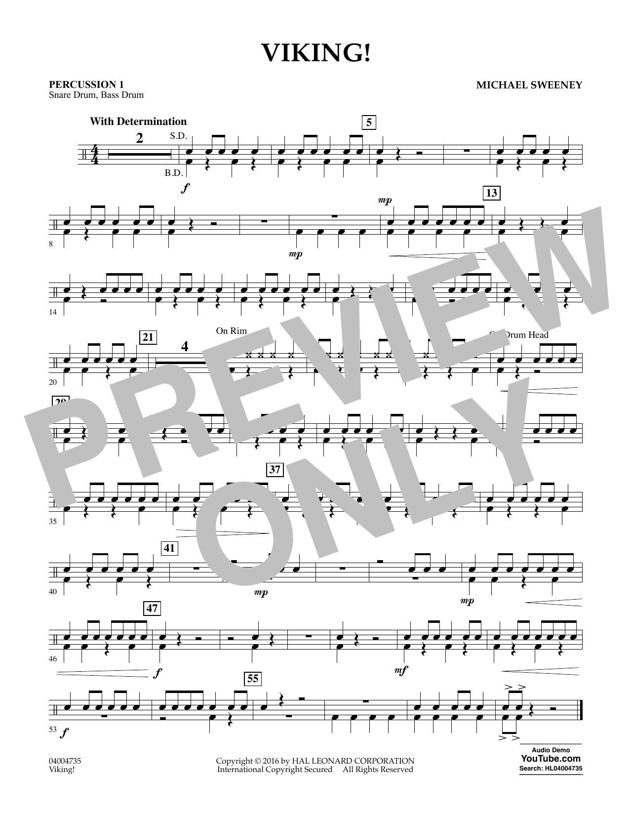 Viking! - Percussion 1 (Concert Band)