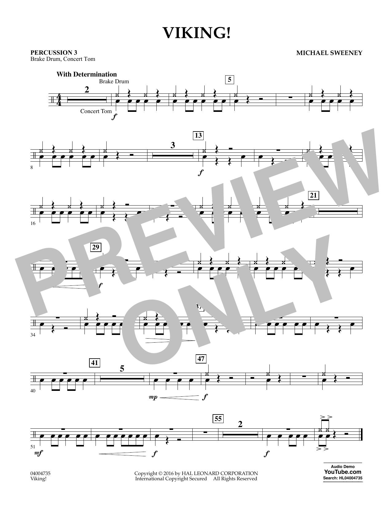 Viking! - Percussion 3 (Concert Band)
