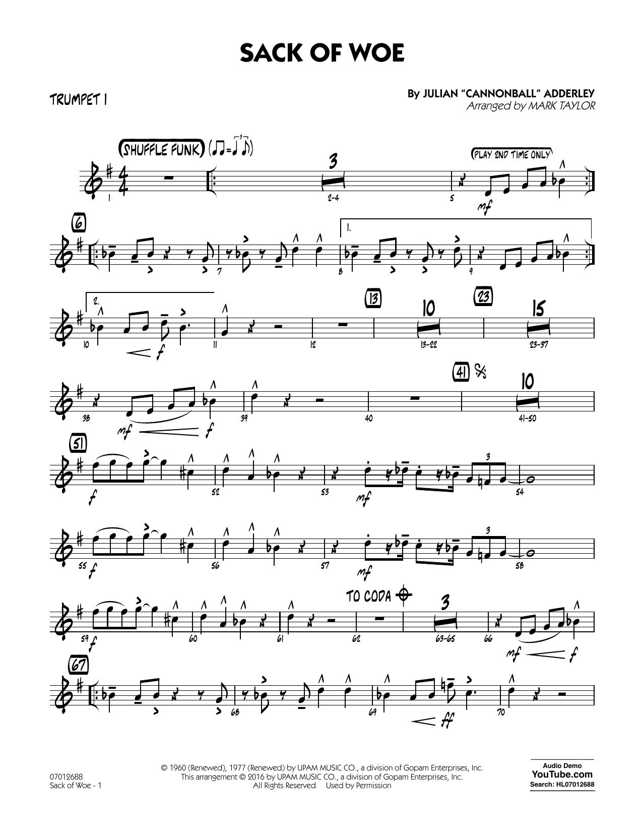 Sack of Woe - Trumpet 1 (Jazz Ensemble)