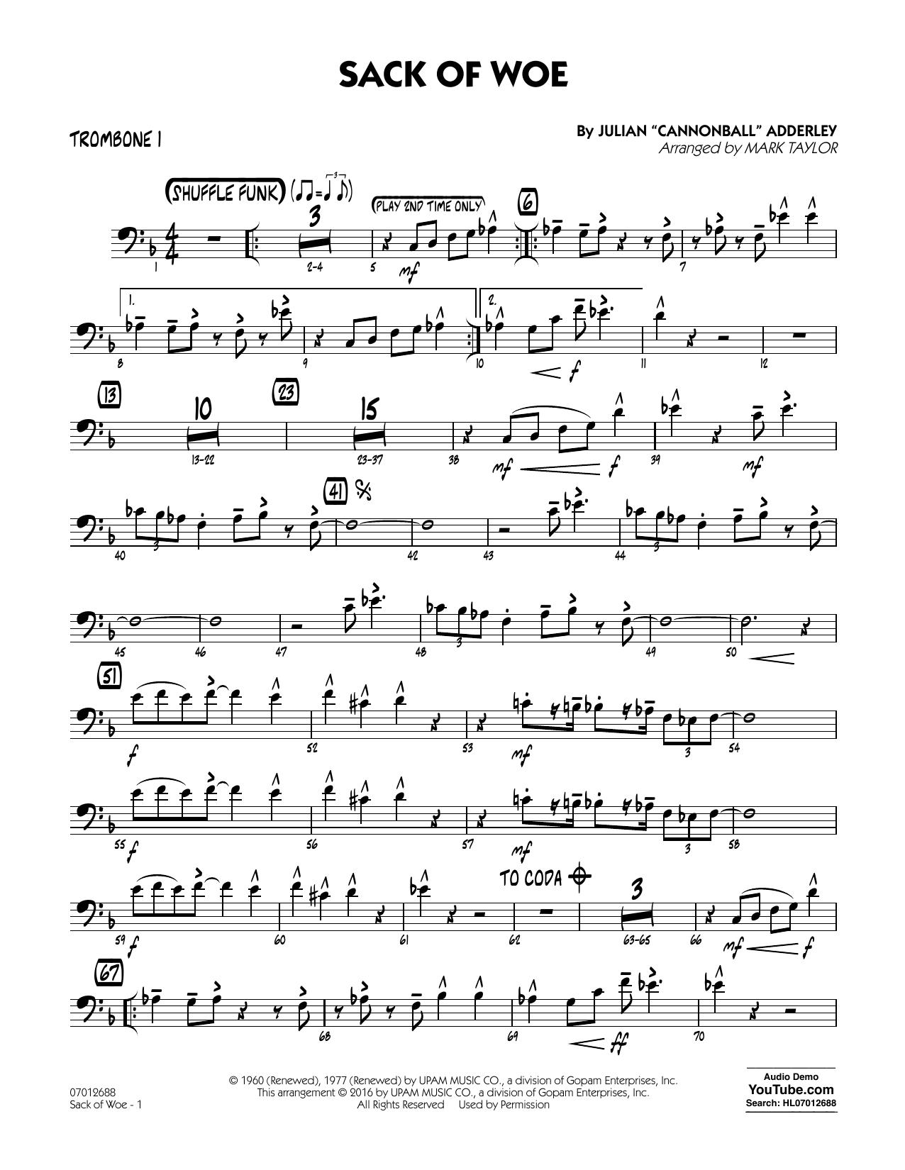 Sack of Woe - Trombone 1 (Jazz Ensemble)