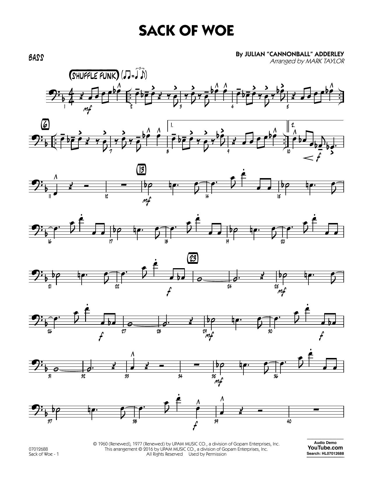 Sack of Woe - Bass (Jazz Ensemble)