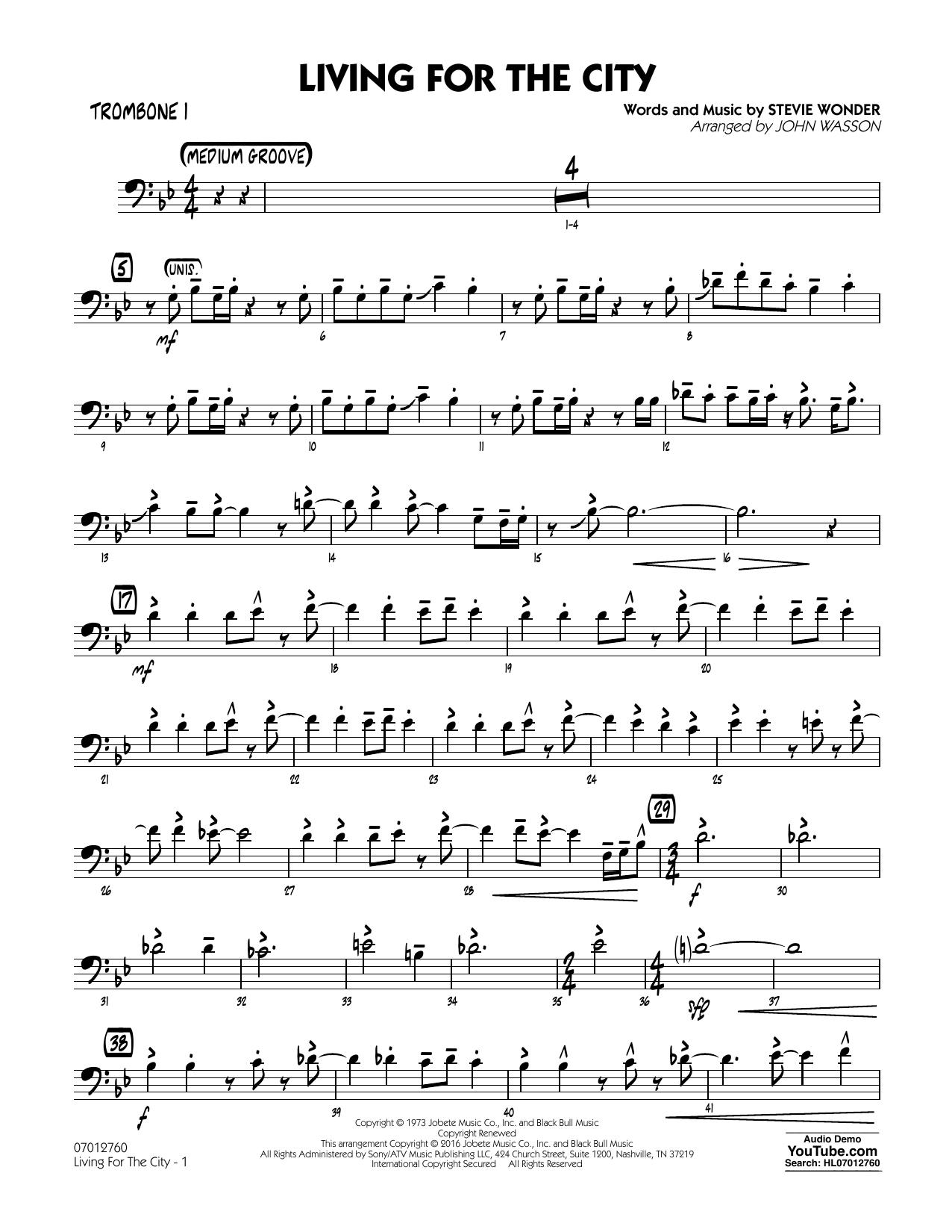 Living for the City - Trombone 1 (Jazz Ensemble)