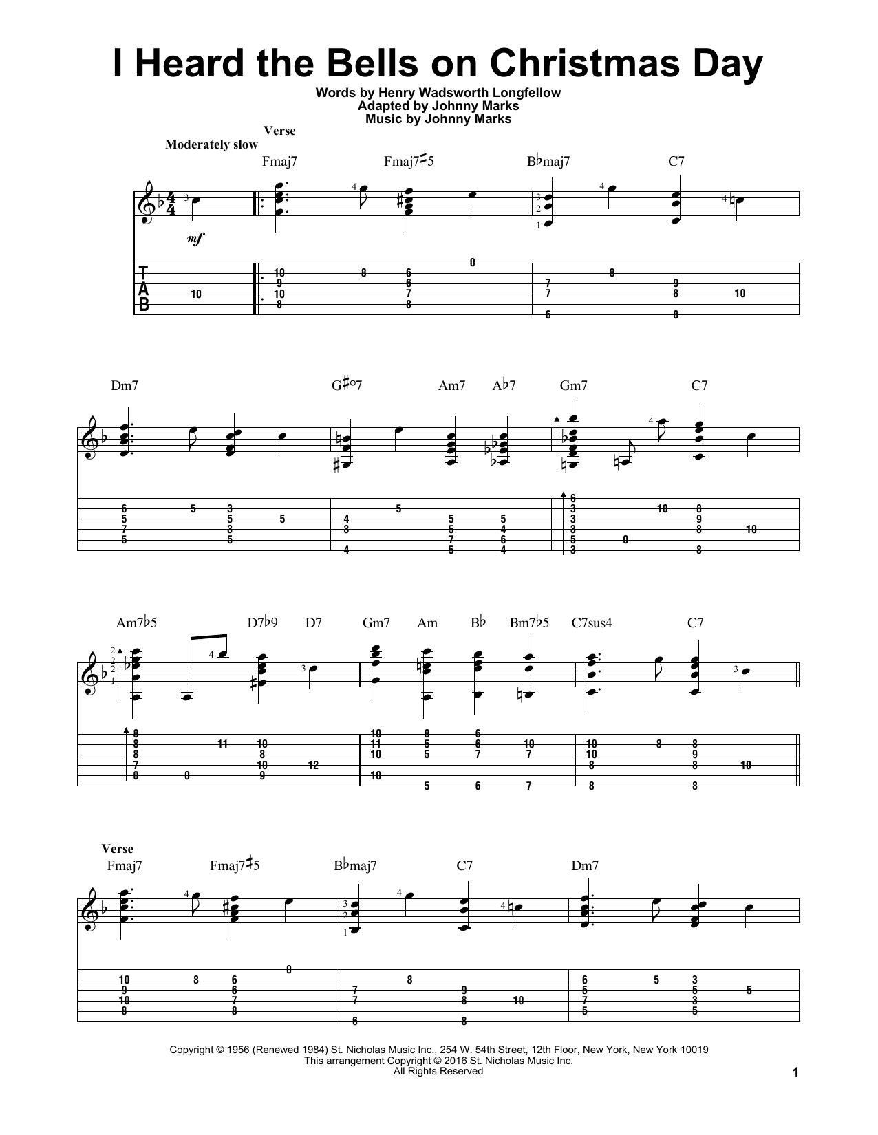 I Heard The Bells On Christmas Day Sheet Music