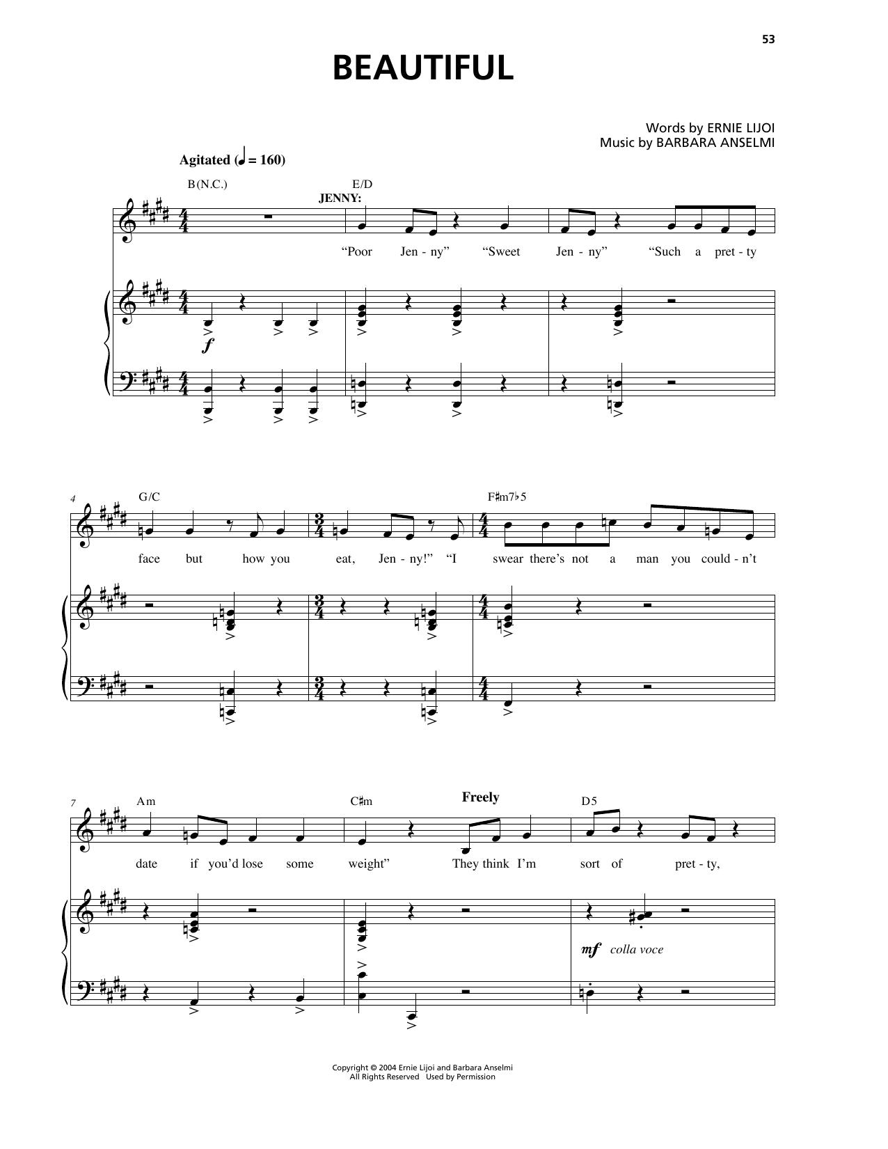 Beautiful (Piano & Vocal)