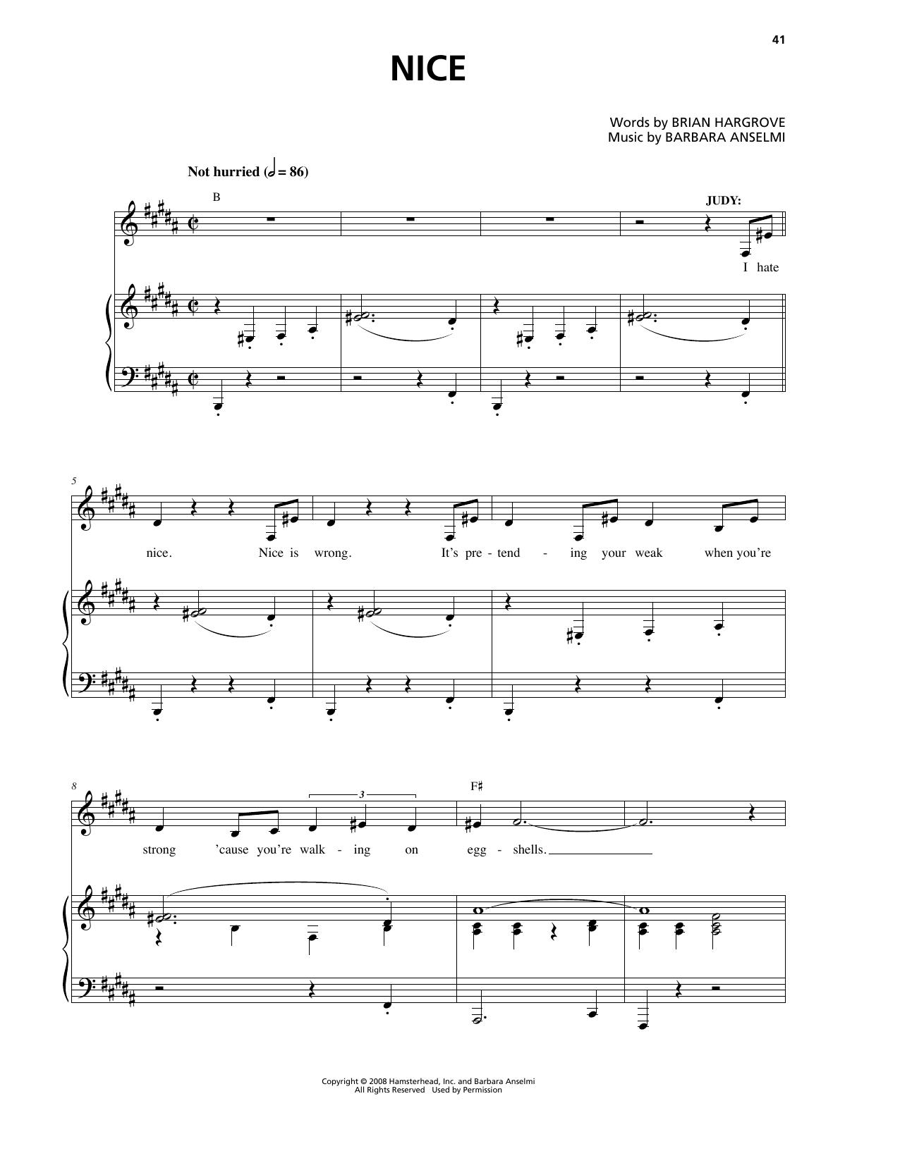 Nice Sheet Music