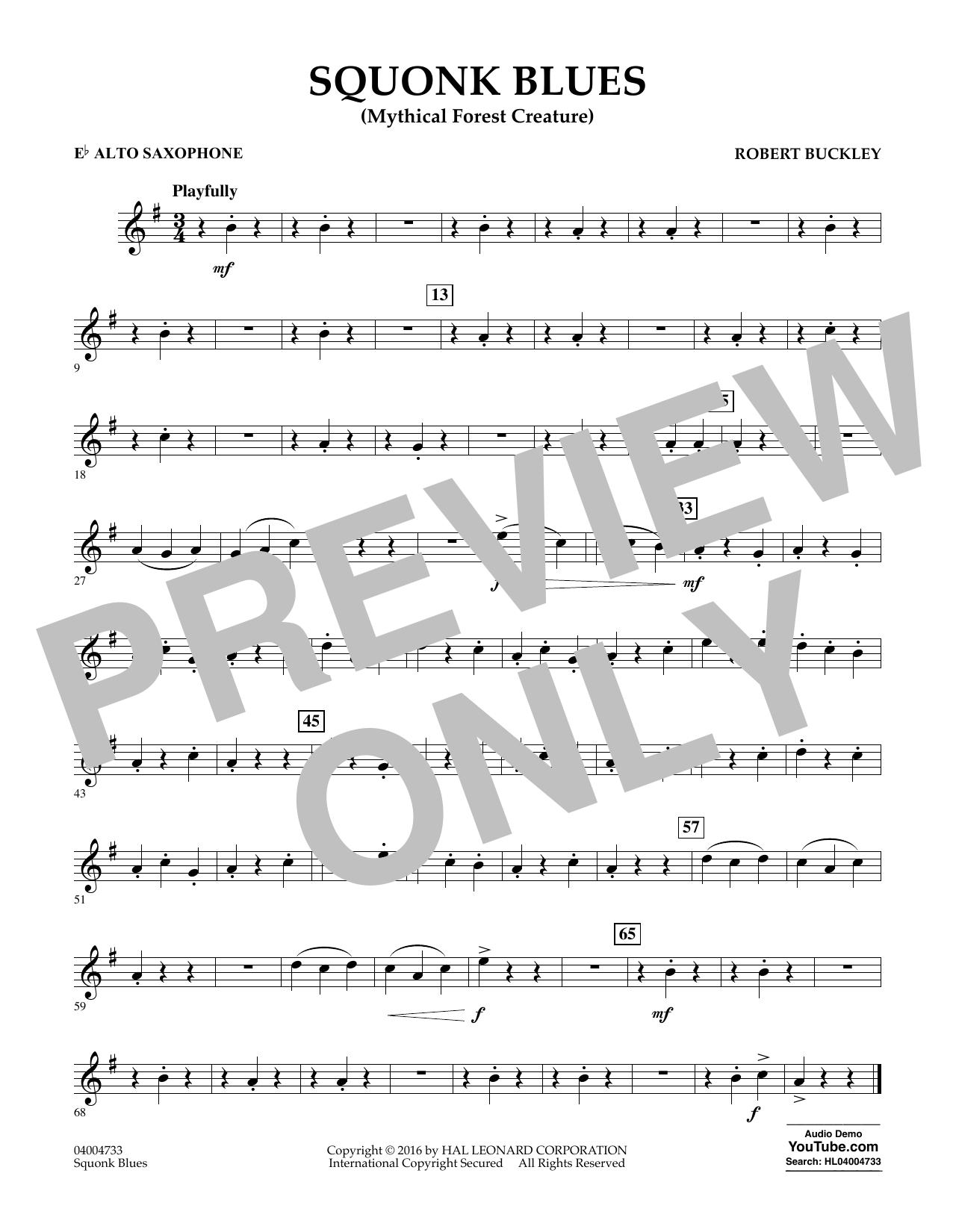 Squonk Blues - Eb Alto Saxophone (Concert Band)