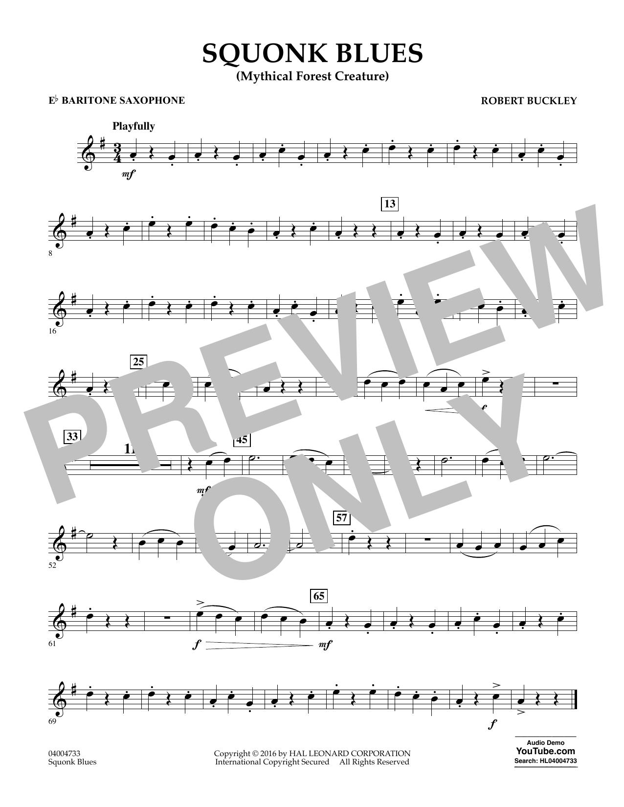 Squonk Blues - Eb Baritone Saxophone (Concert Band)