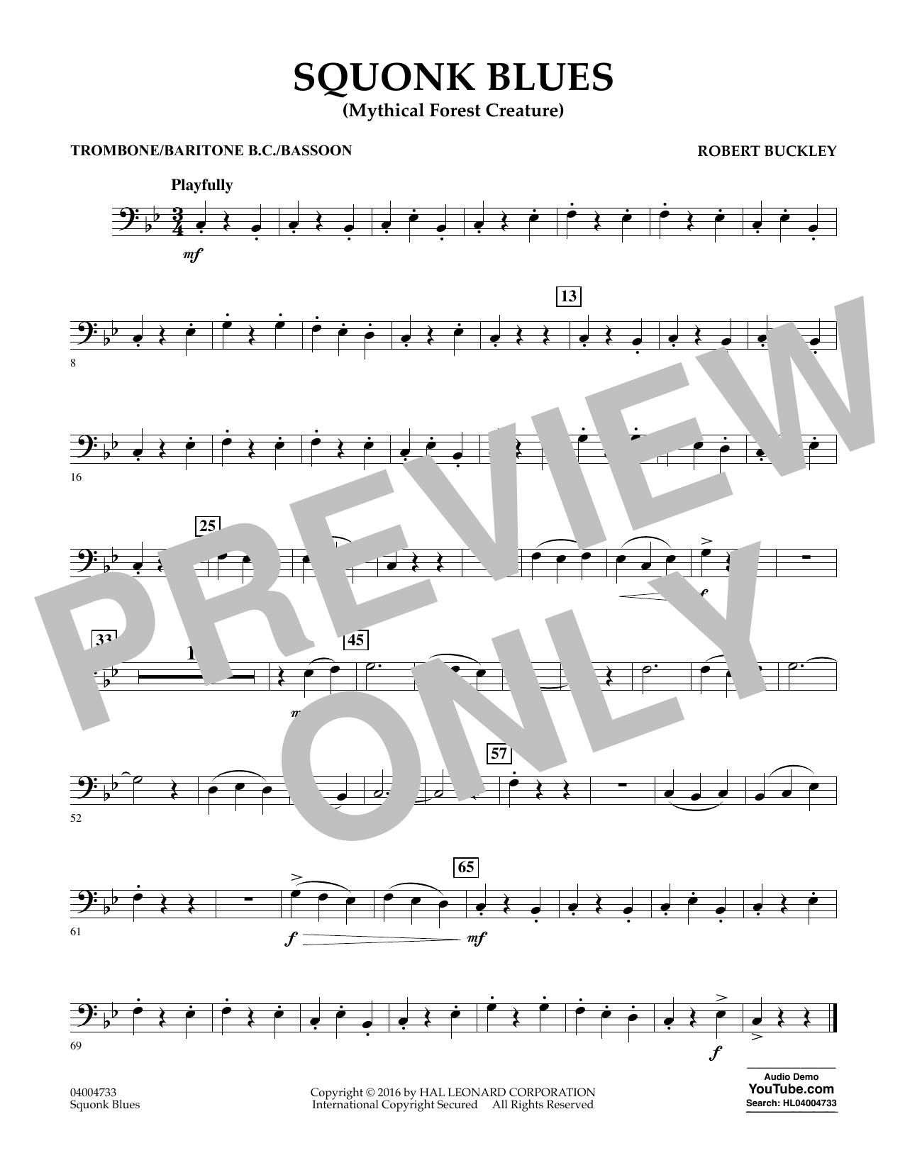 Squonk Blues - Trombone/Baritone B.C./Bassoon (Concert Band)