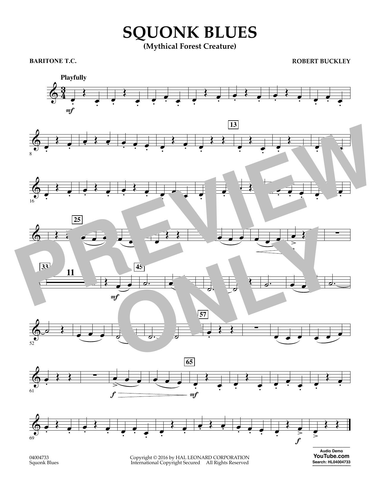 Squonk Blues - Baritone T.C. (Concert Band)