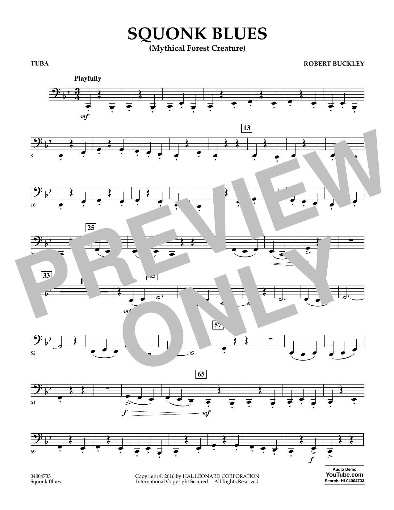 Squonk Blues - Tuba (Concert Band)