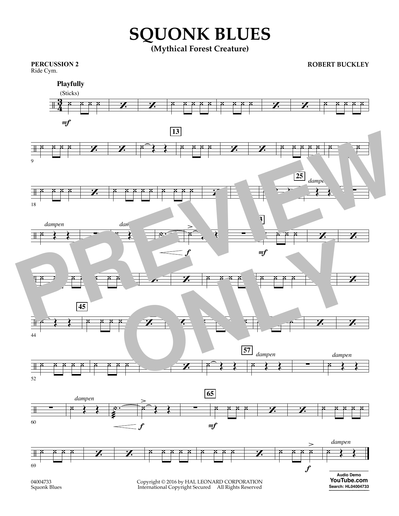 Squonk Blues - Percussion 2 (Concert Band)