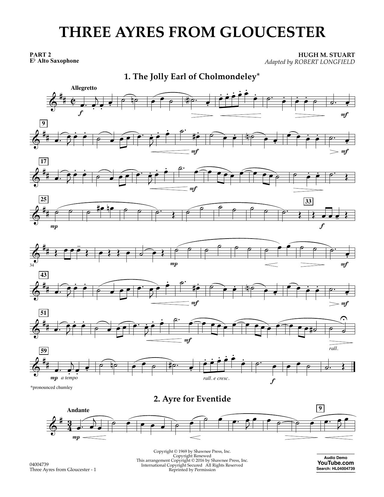Three Ayres from Gloucester - Pt.2 - Eb Alto Saxophone (Flex-Band)