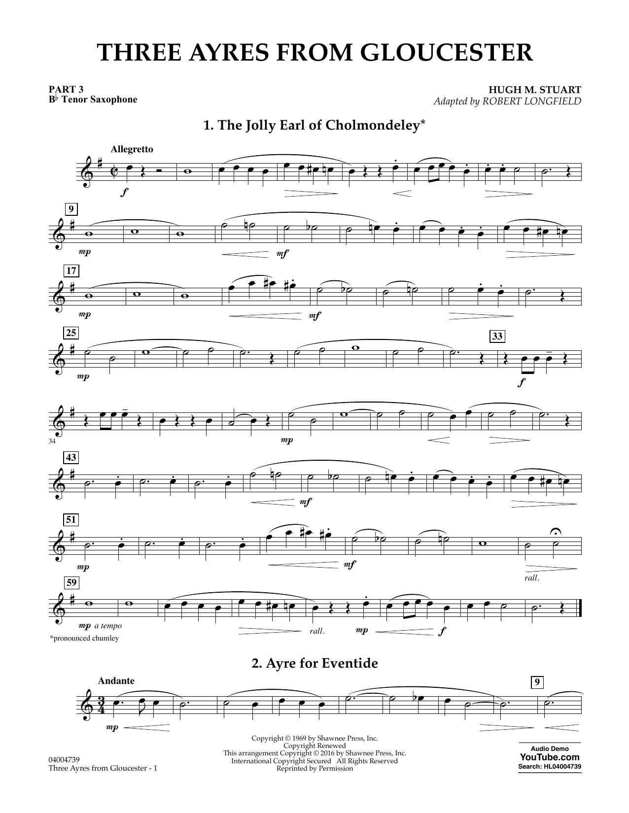 Three Ayres from Gloucester - Pt.3 - Bb Tenor Saxophone (Flex-Band)